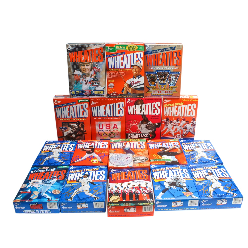 Commemorative Sports Themed Wheaties Boxes