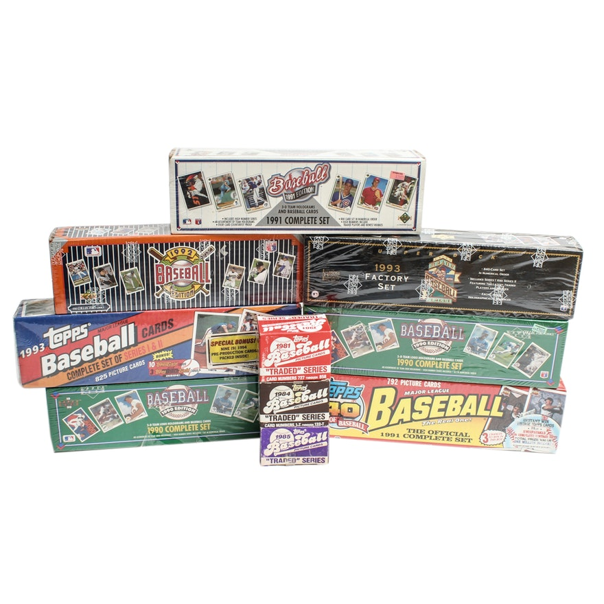 1990s Topps And Upper Deck Baseball Cards