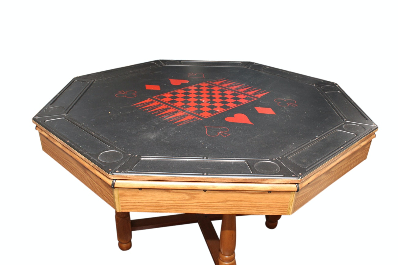 Oak Three-in-One Gaming Table