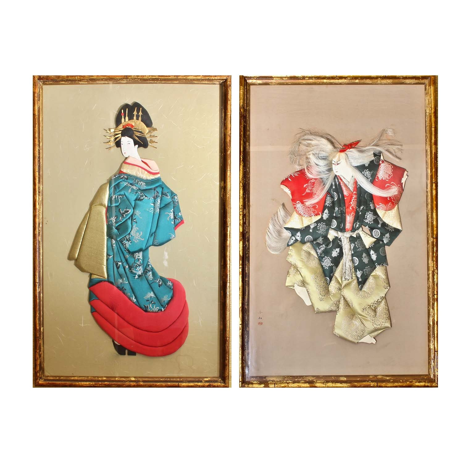 Japanese Silk Mixed Media Art