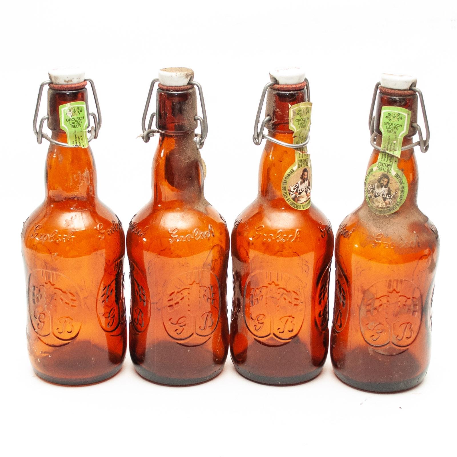 Vintage Grolsch Lager Beer Bottles