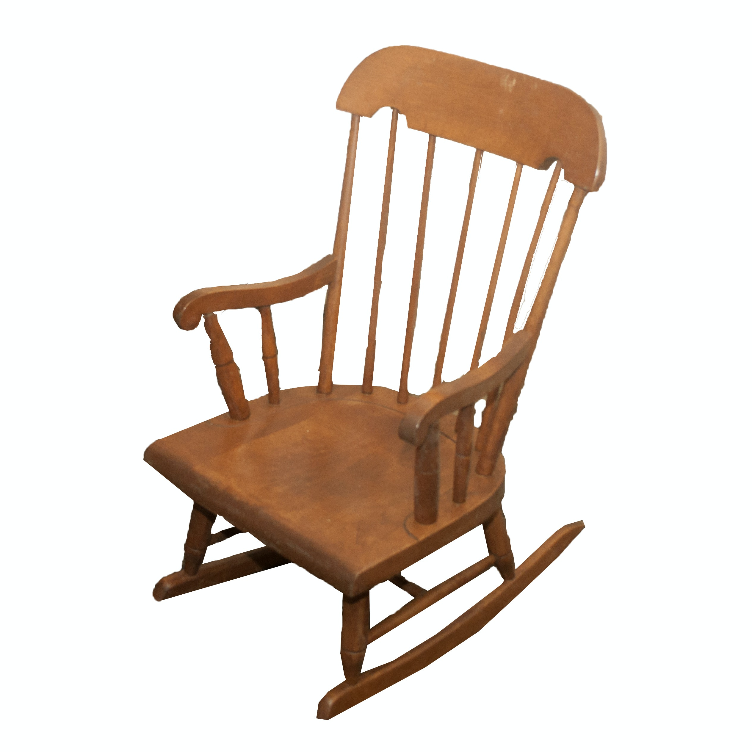 Vintage Colonial Style Child's Rocking Chair