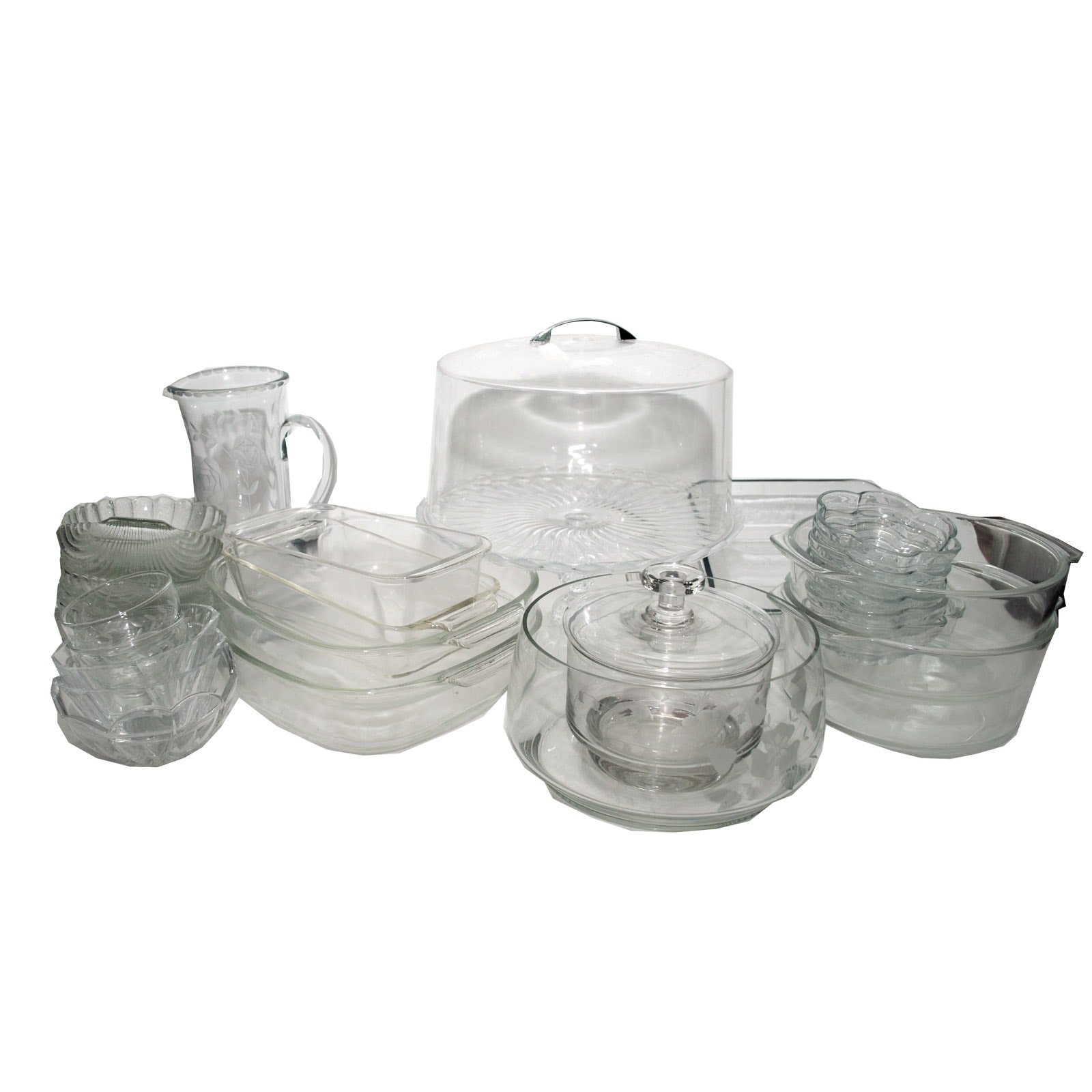 Glass Baking Dishes and Tableware Including Fire King