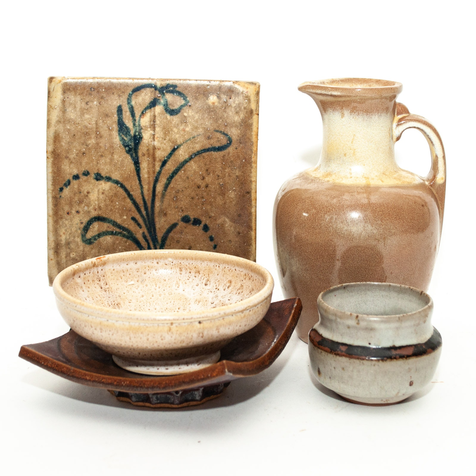 Thrown and Cast Ceramic Tableware Featuring Frankoma and Pigeon Forge Pottery