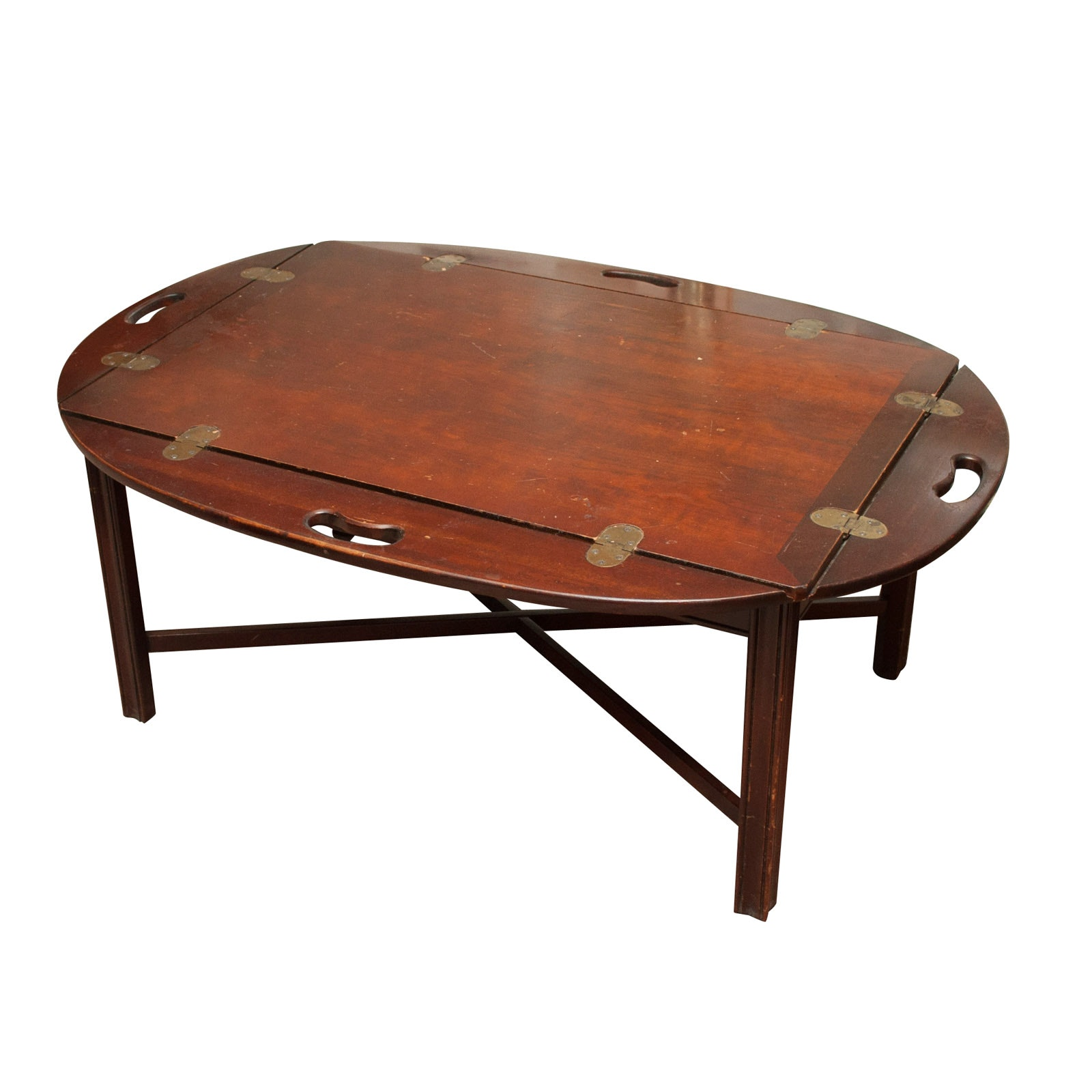 Mahogany Butler's Tray Coffee Table, Mid to Late 20th Century