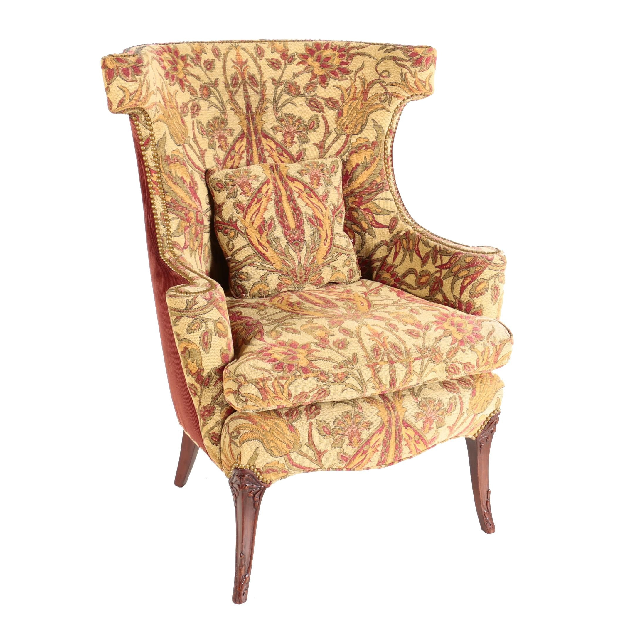 Provincial Style Wingback Chair, Late 20th Century