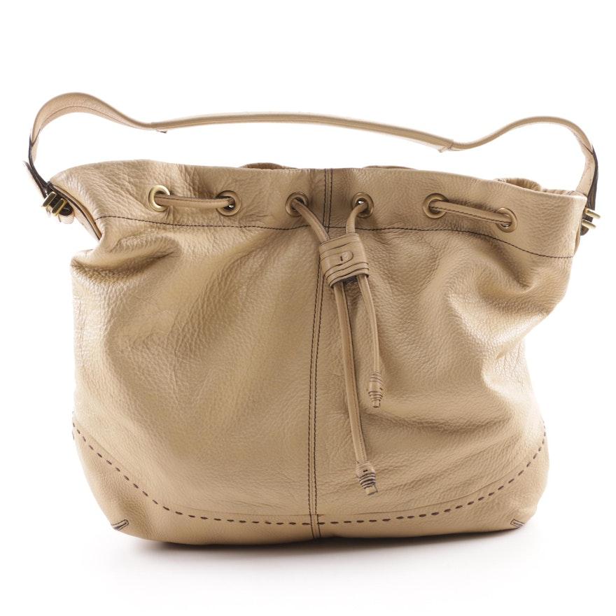 57f9fc63e56 Cole Haan Tan Pebbled Leather Hobo Bag : EBTH
