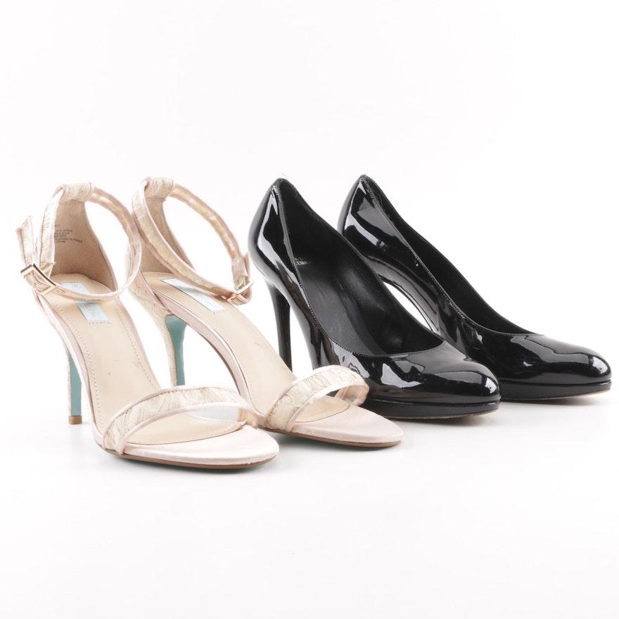 ba0832c0d0e Stuart Weitzman Patent Leather Pumps and Betsey Johnson High-Heeled Sandals    EBTH