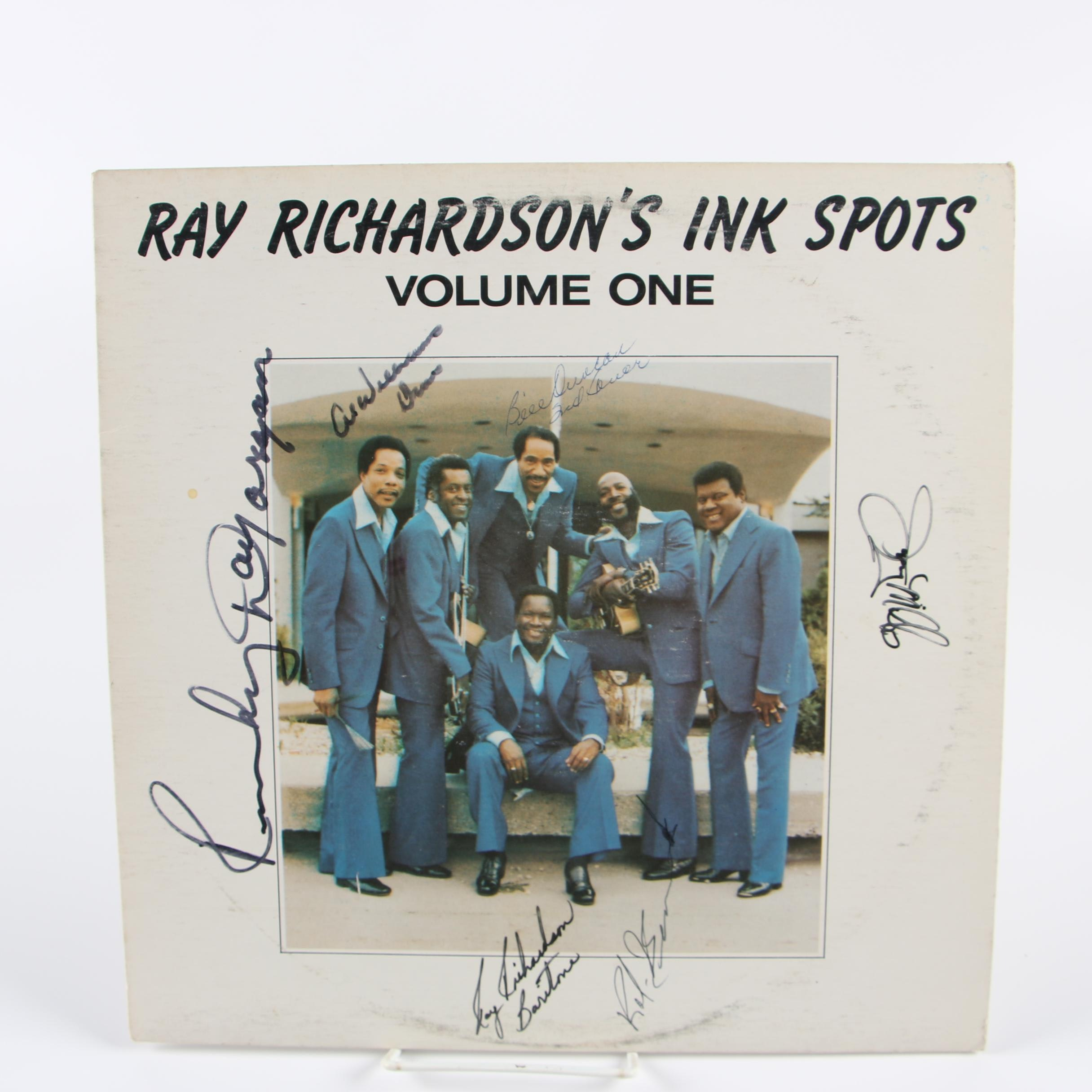 """Autographed """"Ray Richardson's Ink Spots"""" LP Record"""
