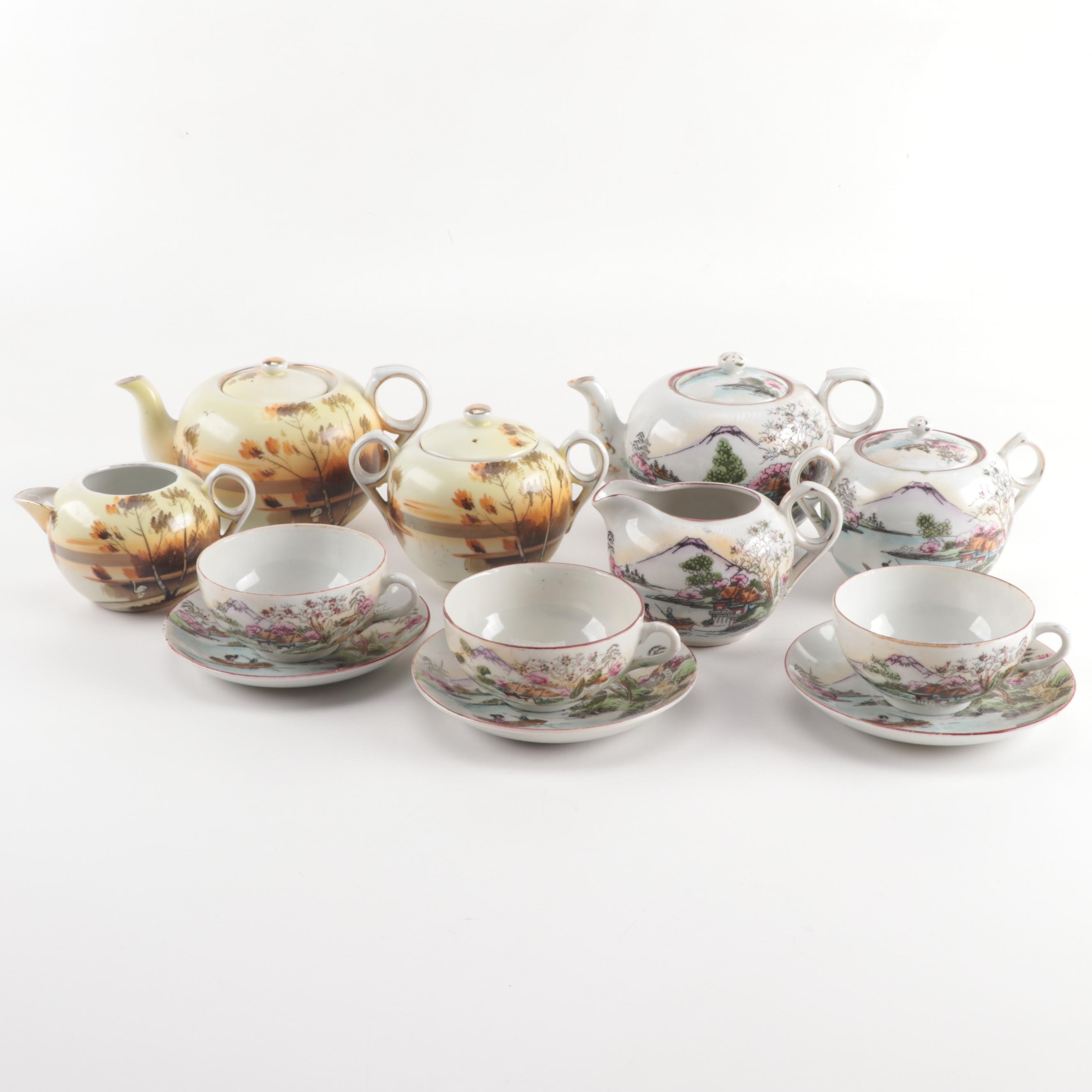 Vintage Japanese Porcelain Tea Sets