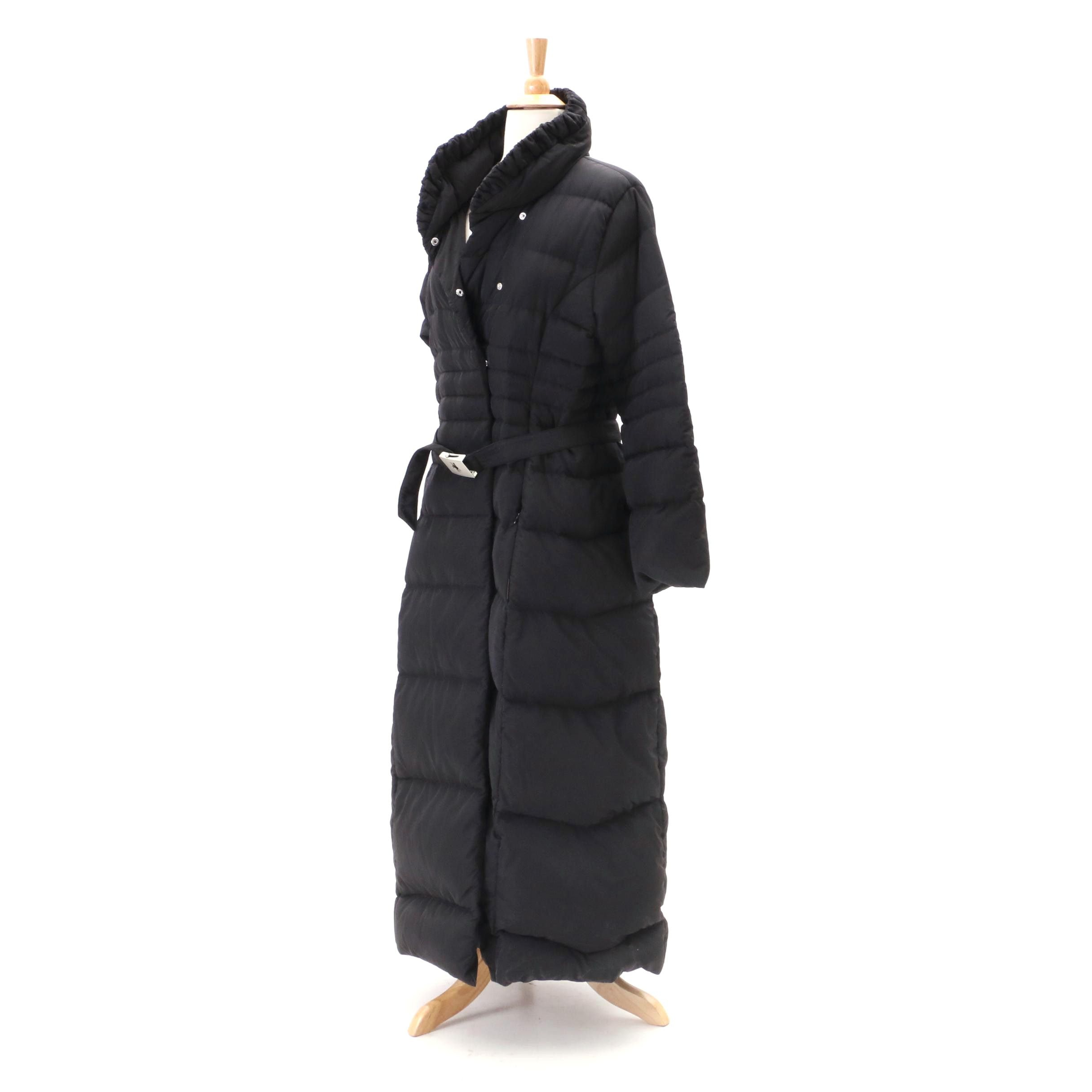 Moncler Full-Length Black Puffer Coat