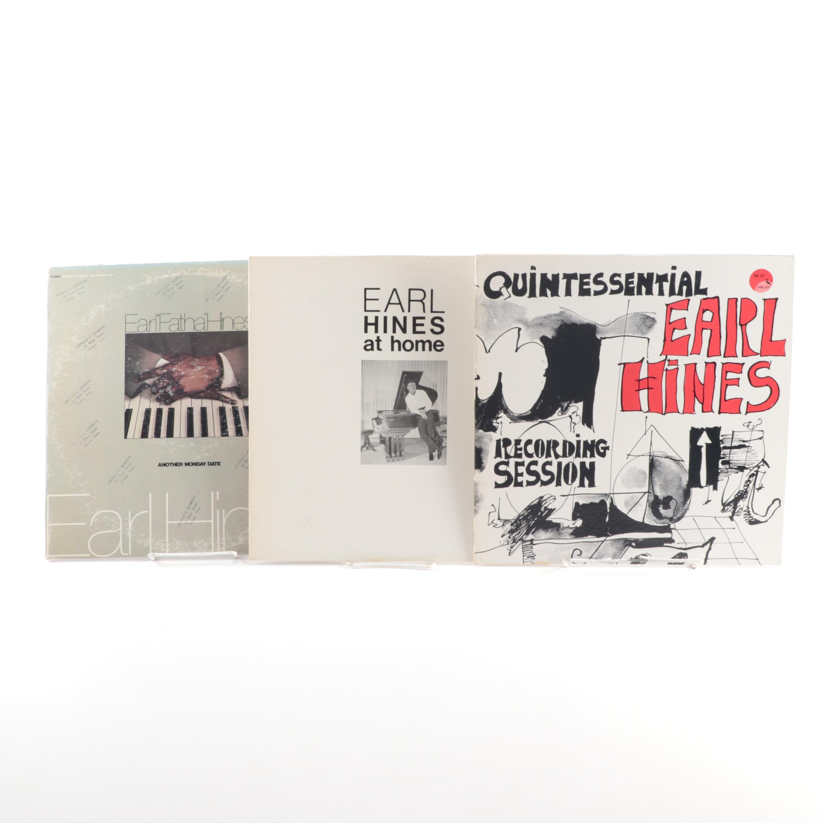 "Earl Hines Vinyl Records including ""Earl Hines at Home"""