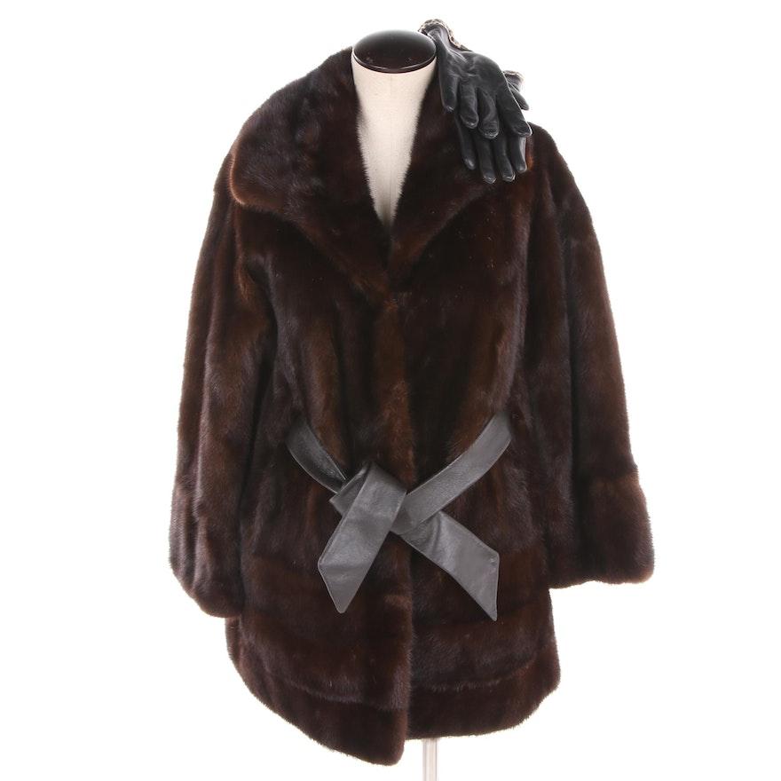 be7d3470b40 Women s Clyde Burtrum Mink Fur Jacket and Charter Club Leather Gloves   EBTH