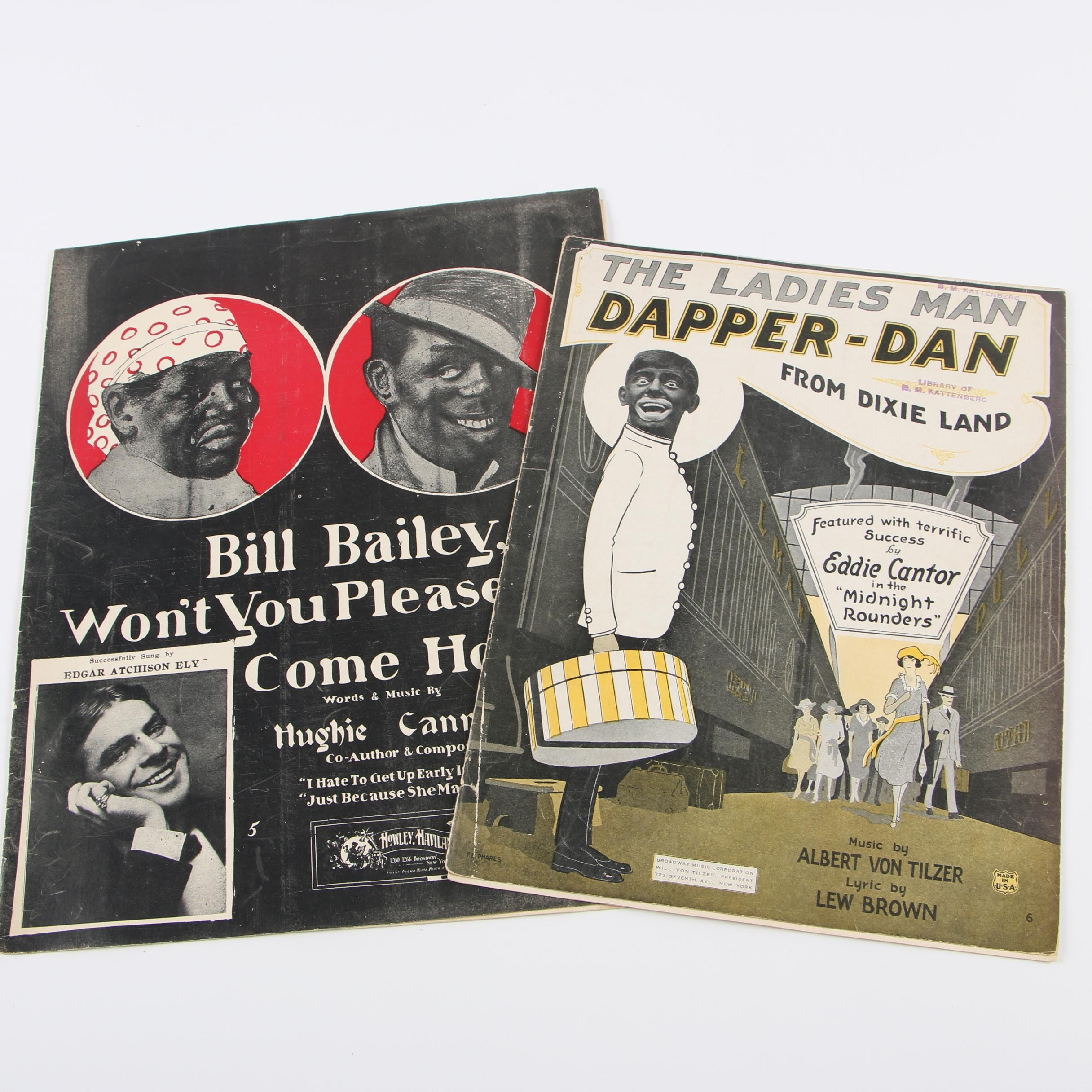 Early 1900s Sheet Music
