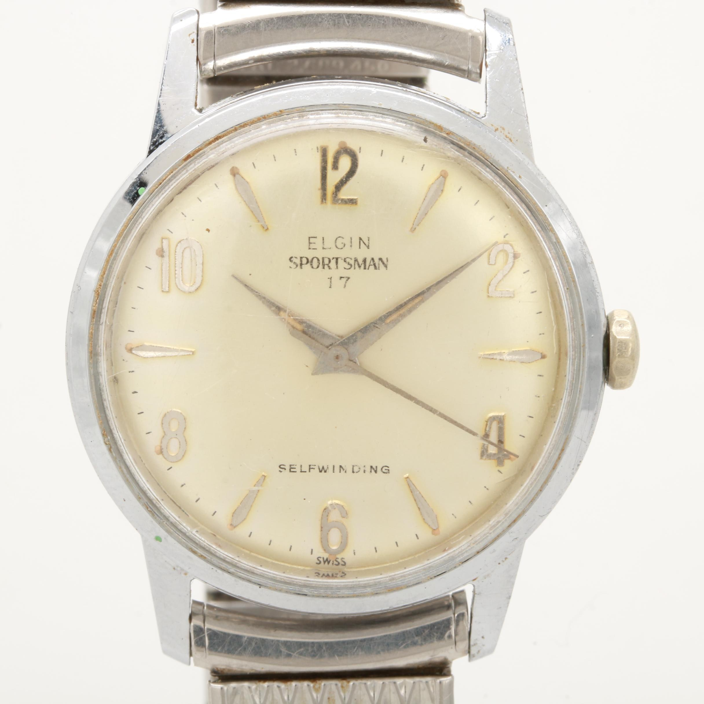 "Elgin ""Sportsman"" Automatic Wristwatch"
