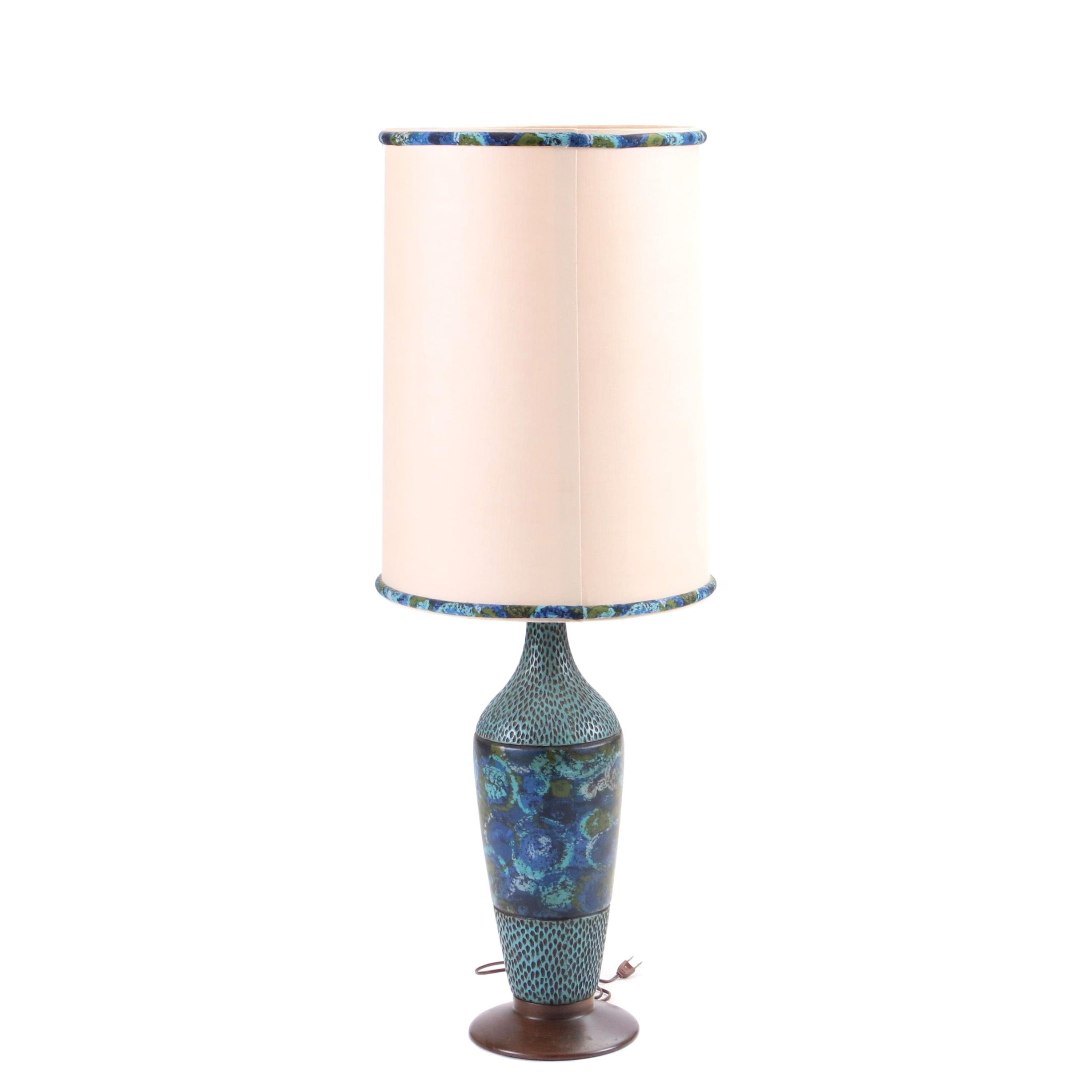 Mid Century Modern Table Lamp In the Style of Aldo Londi