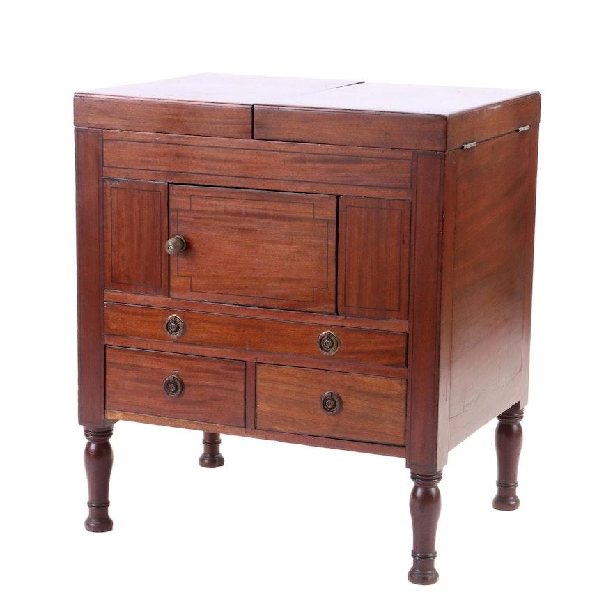 Late George III Mahogany Enclosed Dressing Table