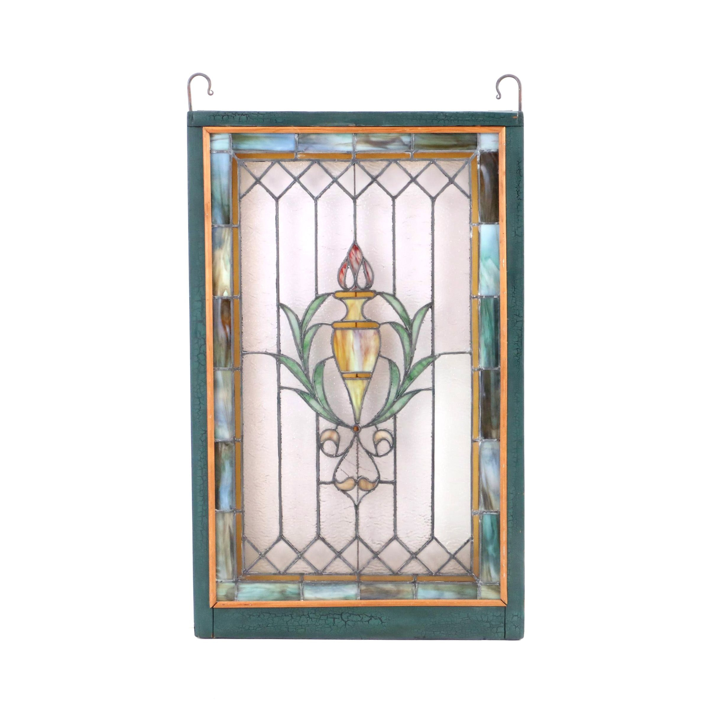 Illuminated Stained and Slag Glass Panel