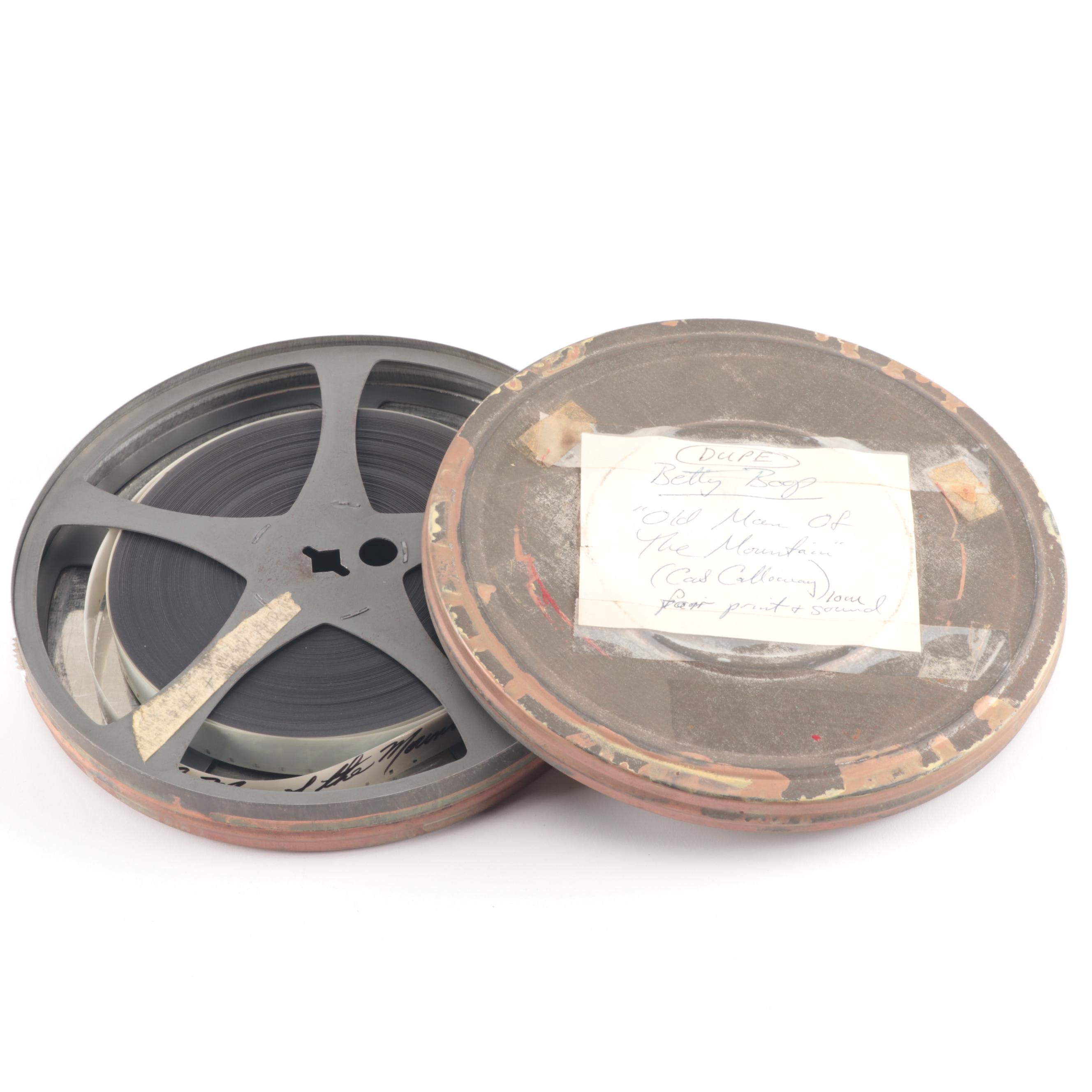 """Film Reel for Betty Boop Animation with Cab Calloway, """"Old Man of the Mountain"""""""
