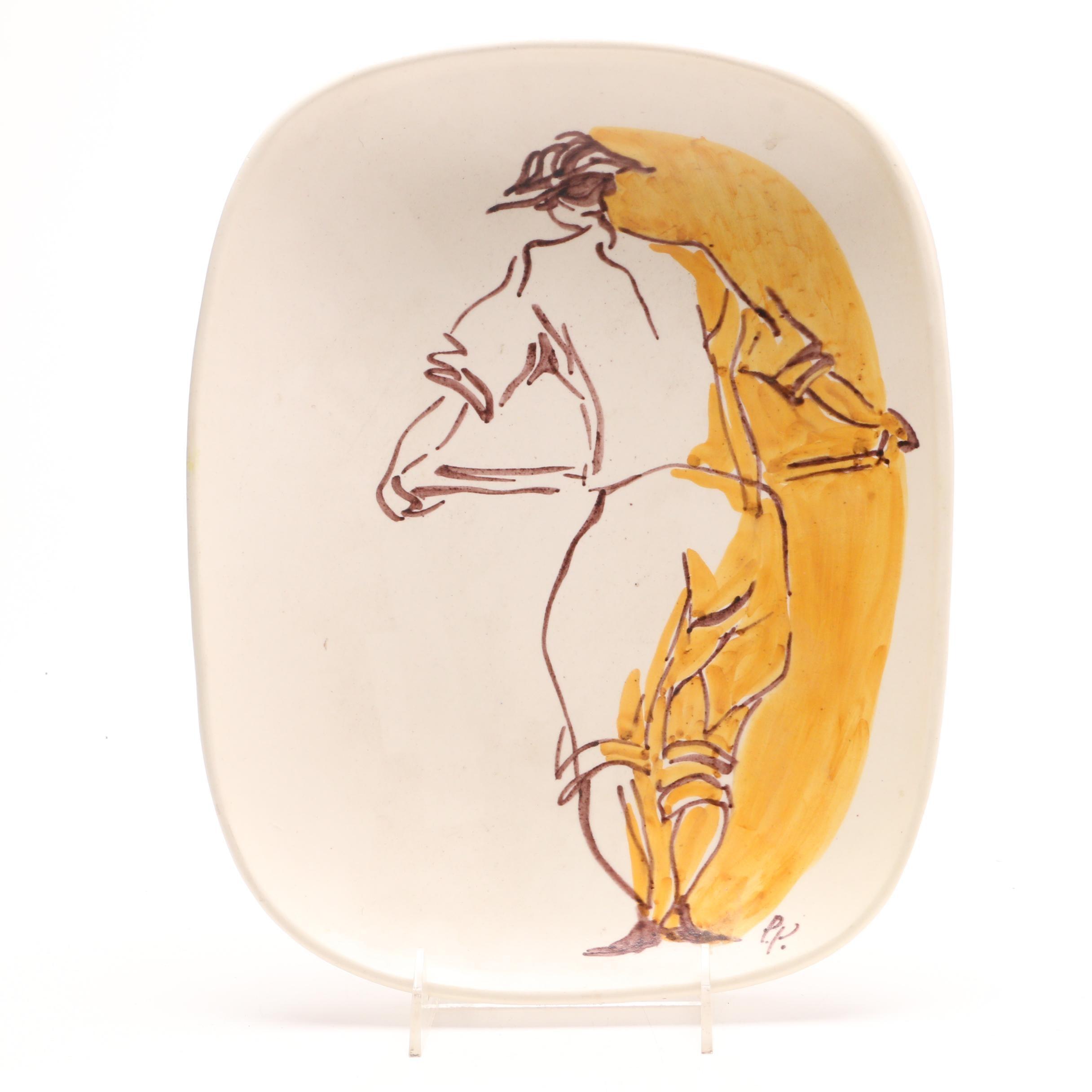 Vintage Agostinelli dal Pra Ceramic Bowl