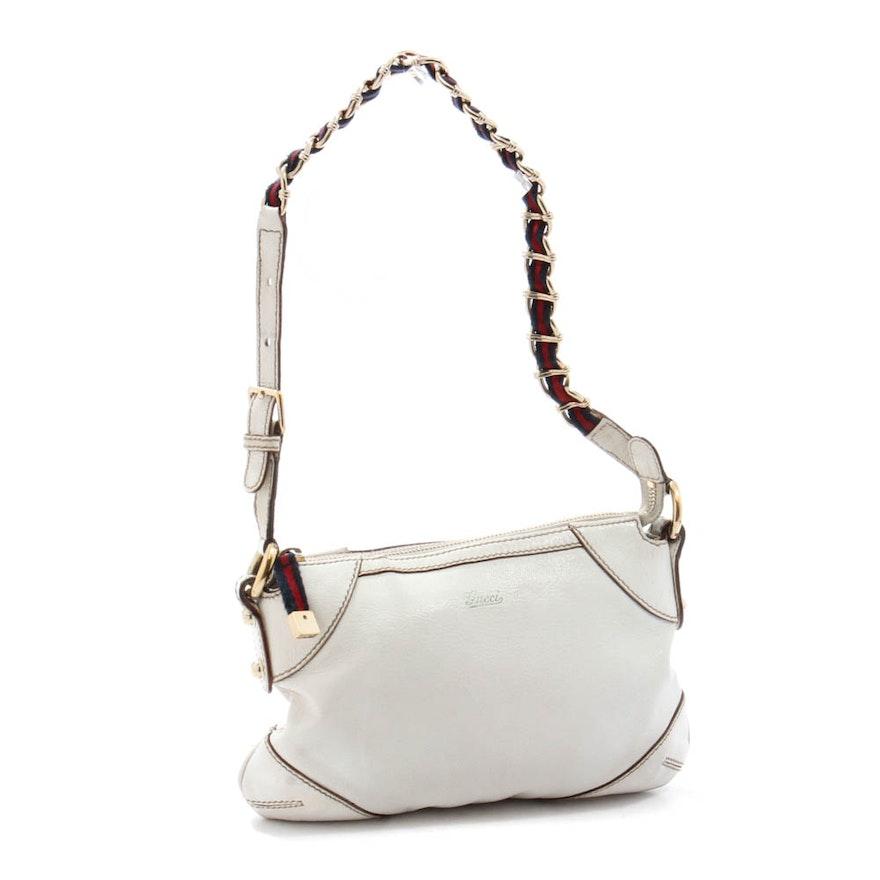 eb2c91a32df Vintage Gucci White Leather Shoulder Bag   EBTH