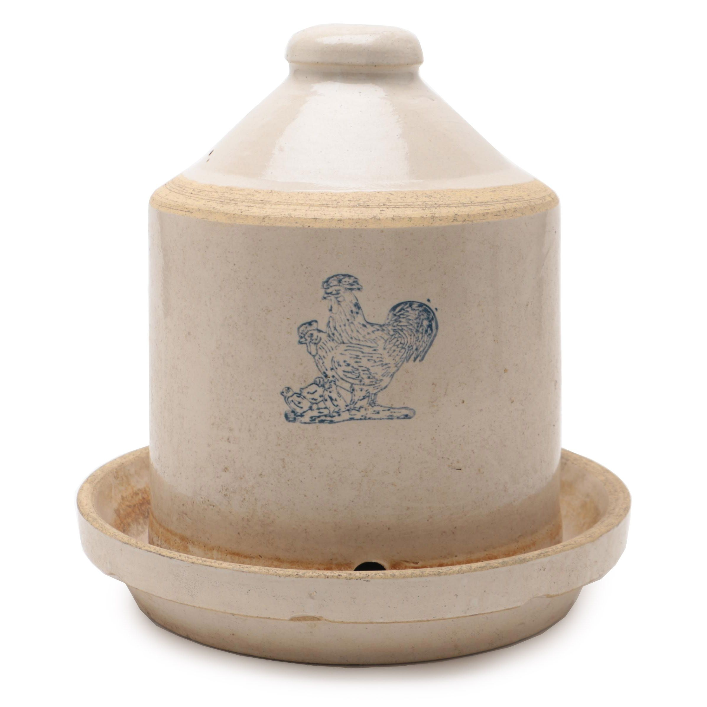 Nelson McCoy Sanitary Stoneware Chicken Fountain