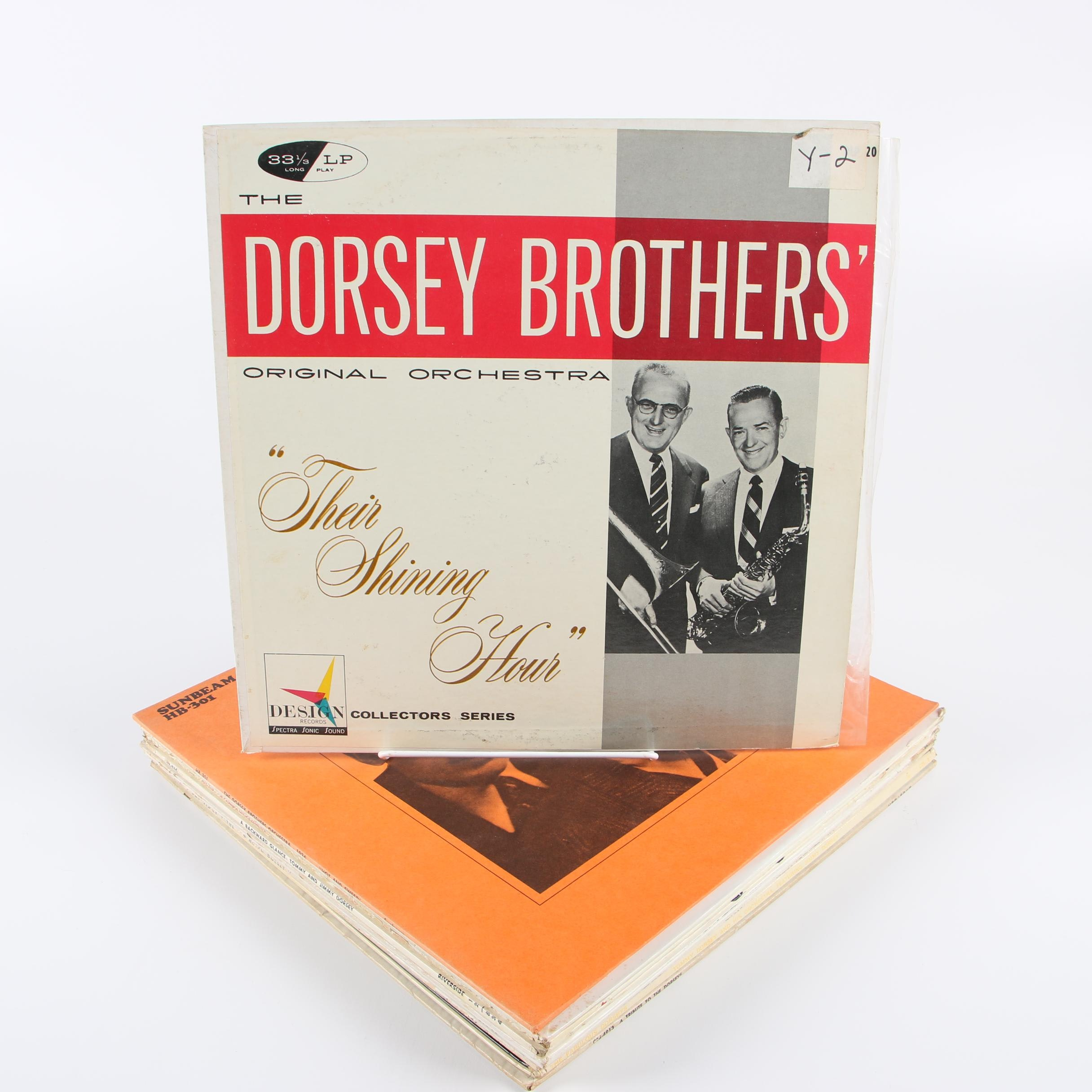"The Dorsey Brothers Vinyl Records including ""The Fabulous Dorseys in Hi-Fi"""