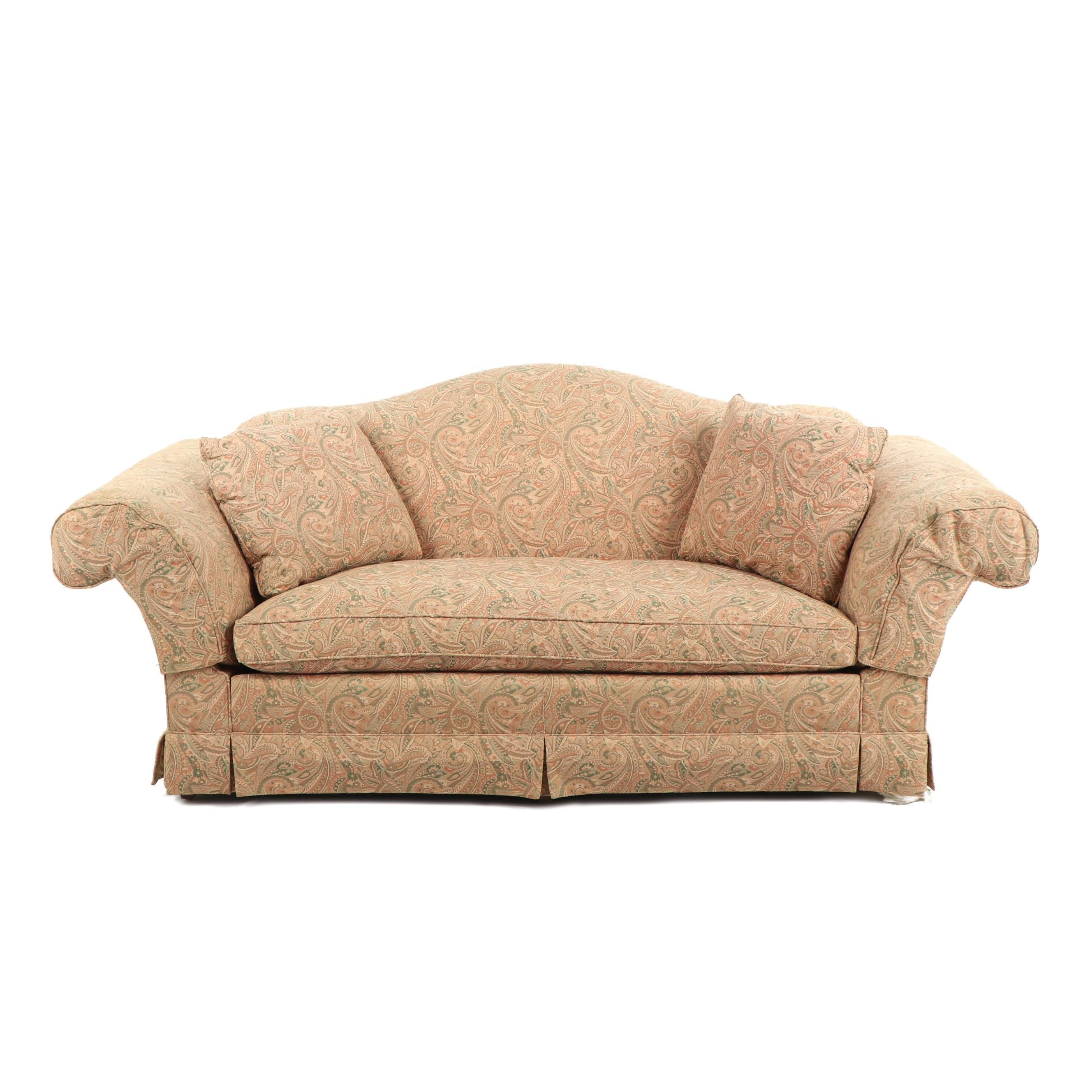 Camel Back Paisley Sofa By Baker ...