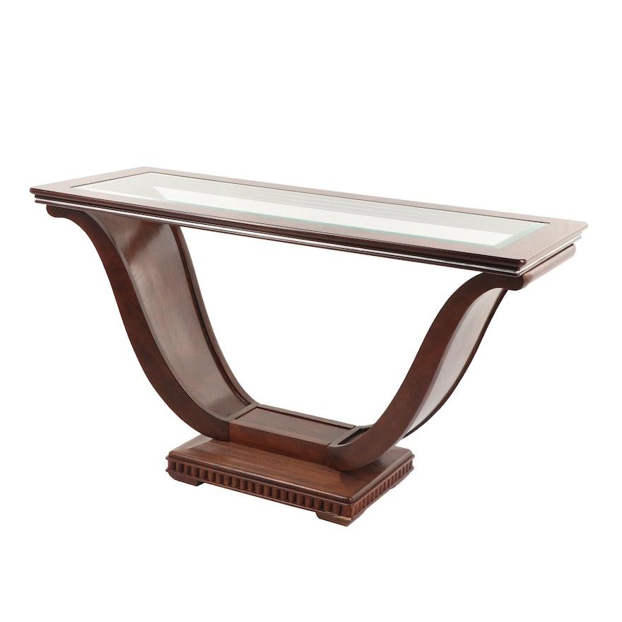 Art Deco Style U-Base Console Table, 20th Century