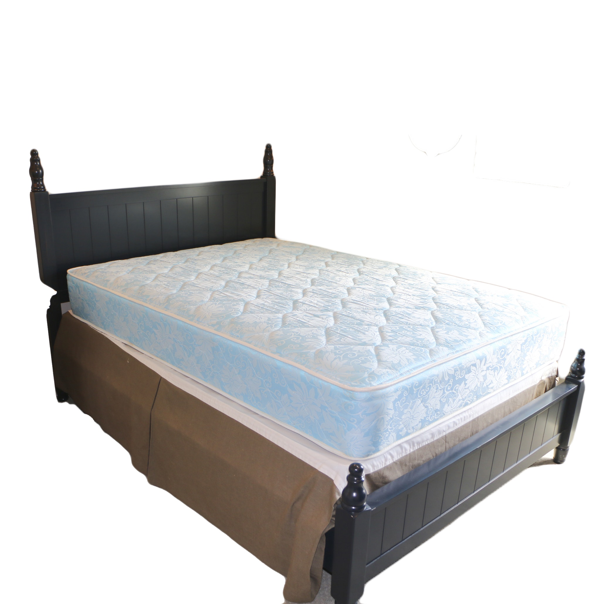 Contemporary Black Finish Full Size Bed Frame