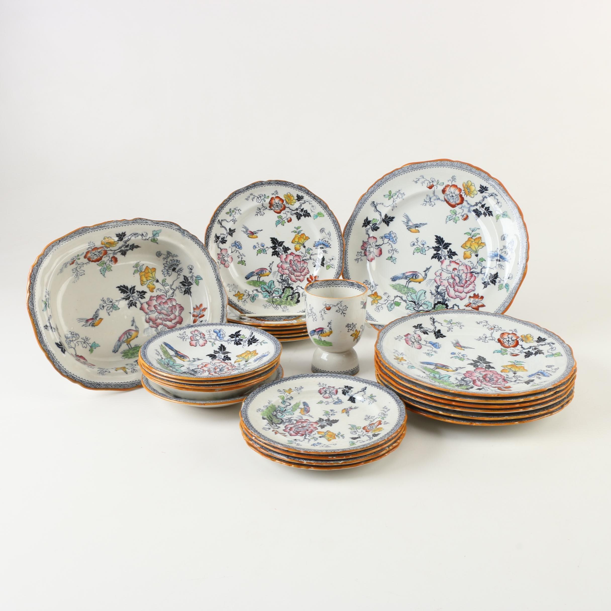 "Antique Ashworth Bros. ""Formosa"" Ironstone Dinnerware 1891-1900"