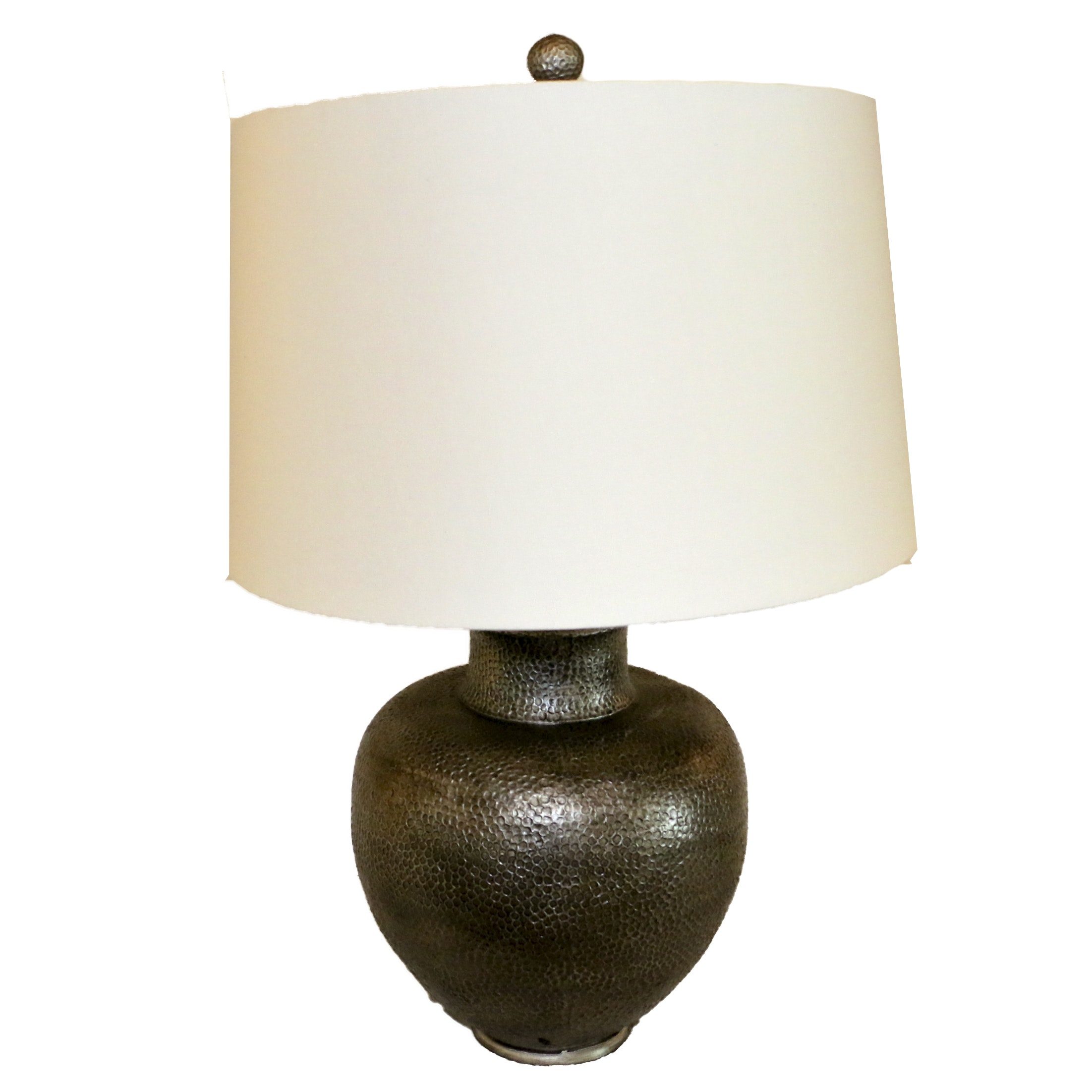 Ceramic Table Lamp with Barrel Shade