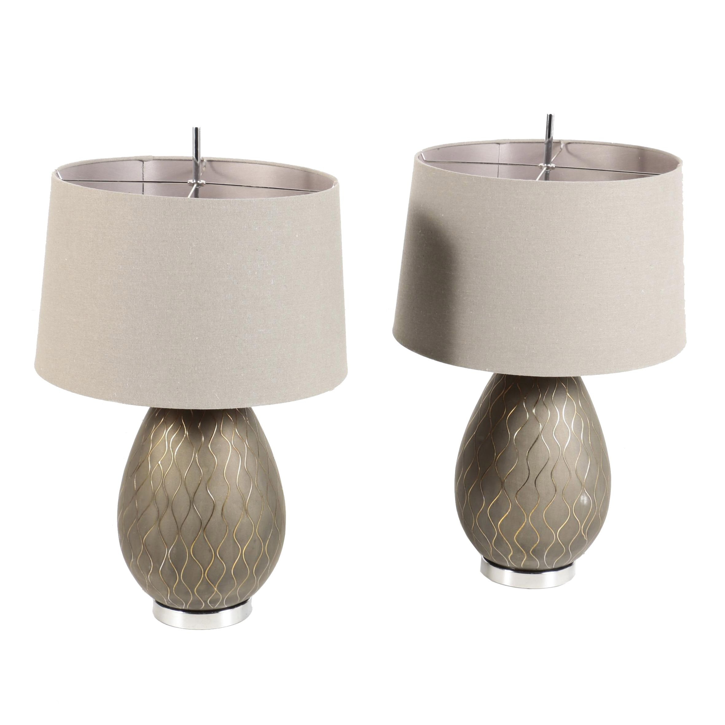 "Pacific Coast Lighting ""Walston"" Table Lamps"
