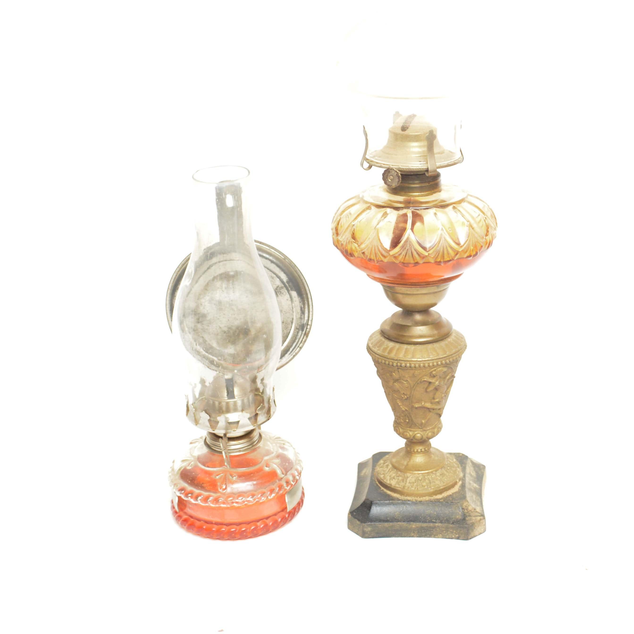 Vintage Hurricane Lamps