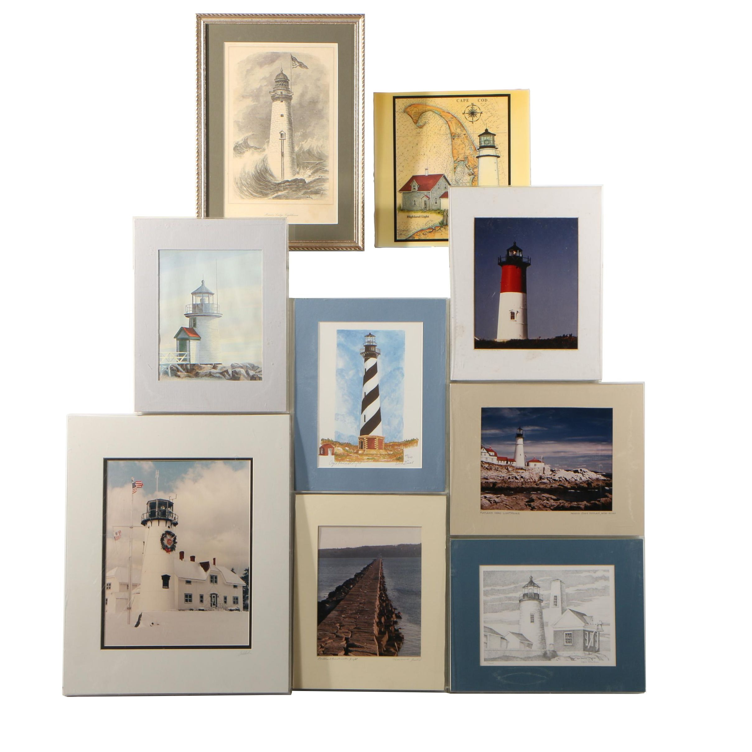 Lighthouse Photographs and Offset Lithographs