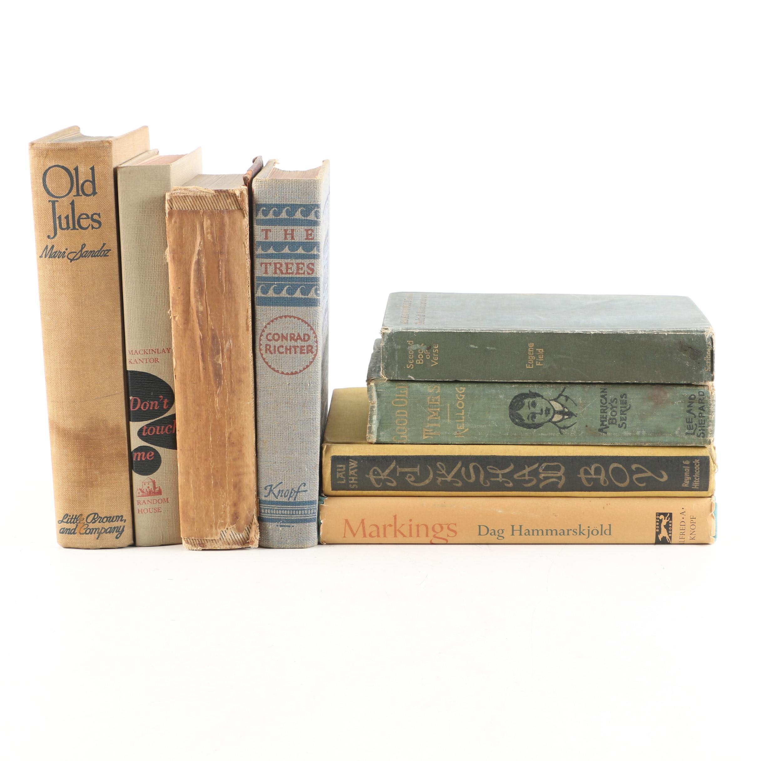 "Fiction and Nonfiction including First Edition ""Old Jules"" by Mari Sandoz"
