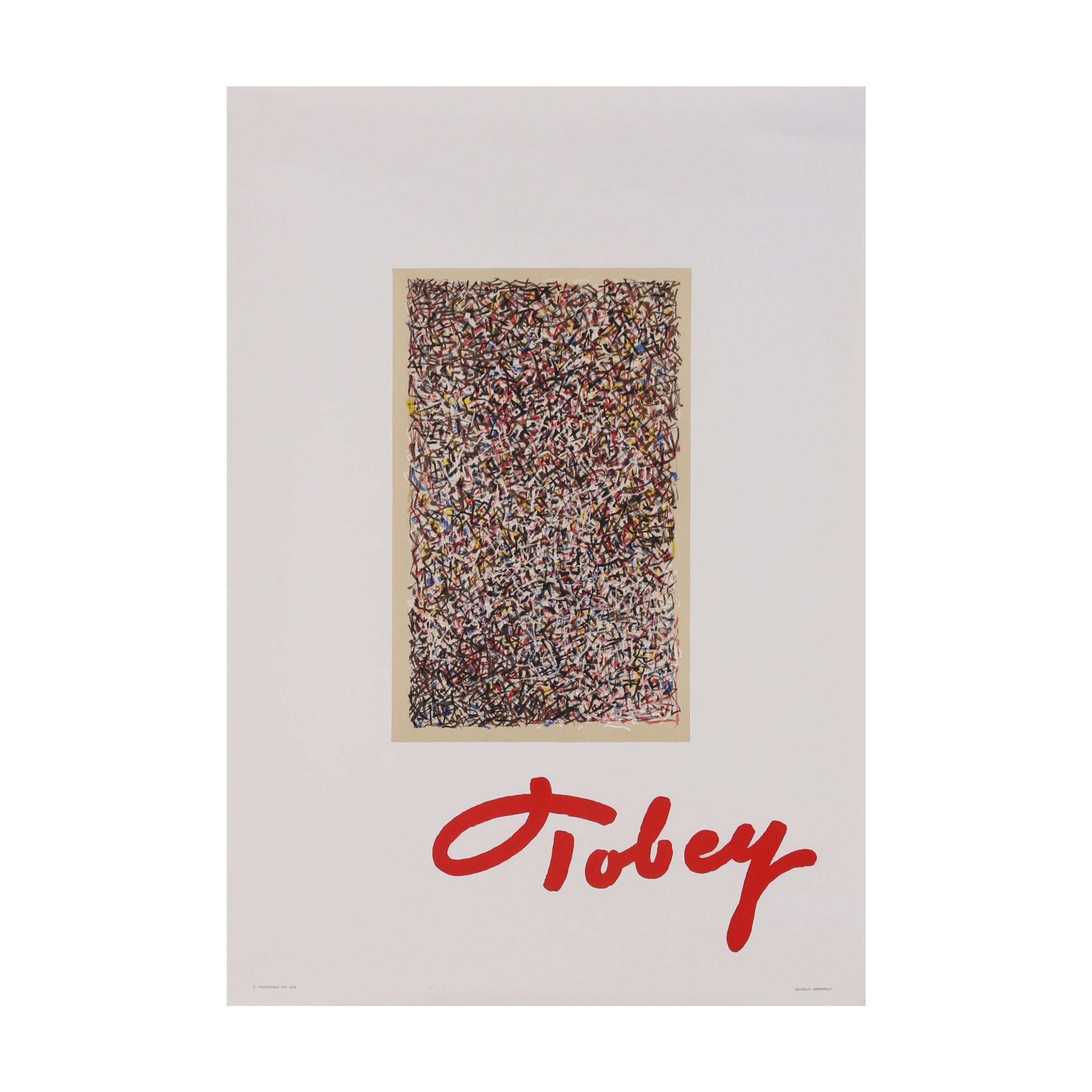 Lithograph Poster after Mark Tobey