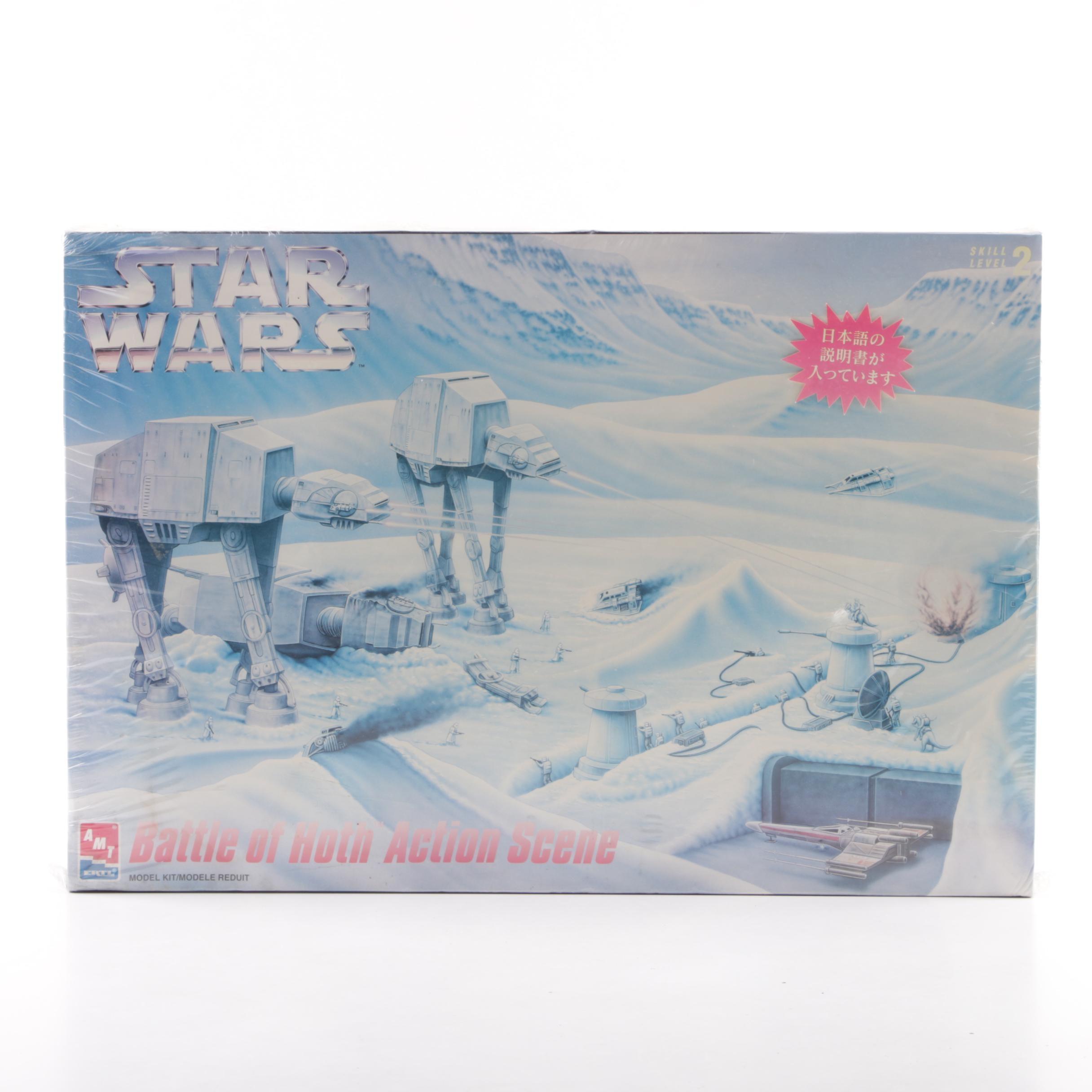 "1990s AMT Ertl ""Star Wars"" Battle of Hoth Action Scene Model Kit"