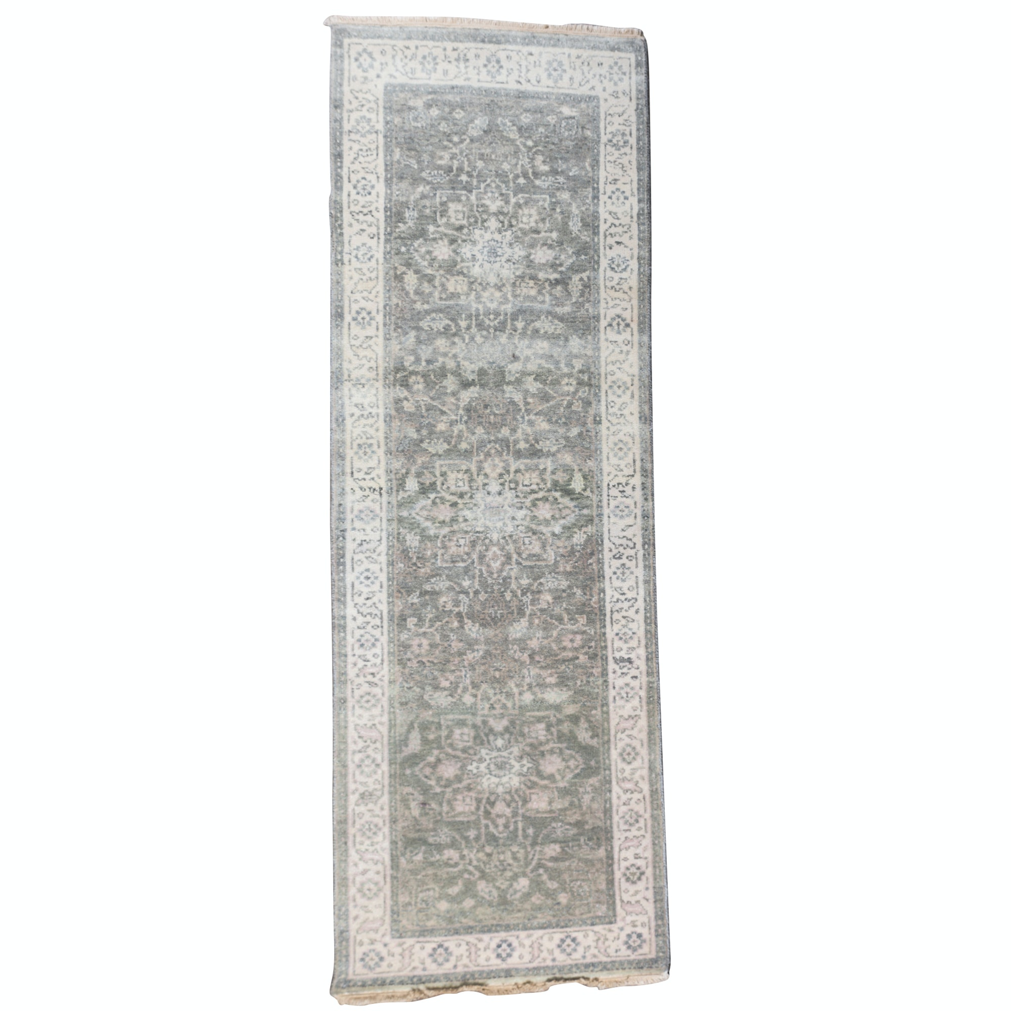 Hand-Knotted Indo-Oushak Wool Runner