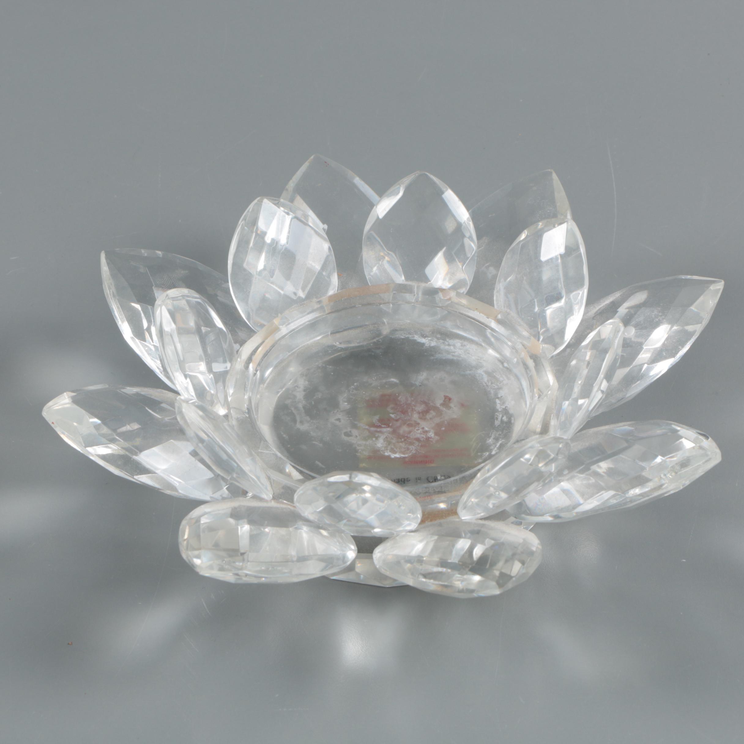 Fifth Avenue Crystal Ltd.  Floral Candle Holder