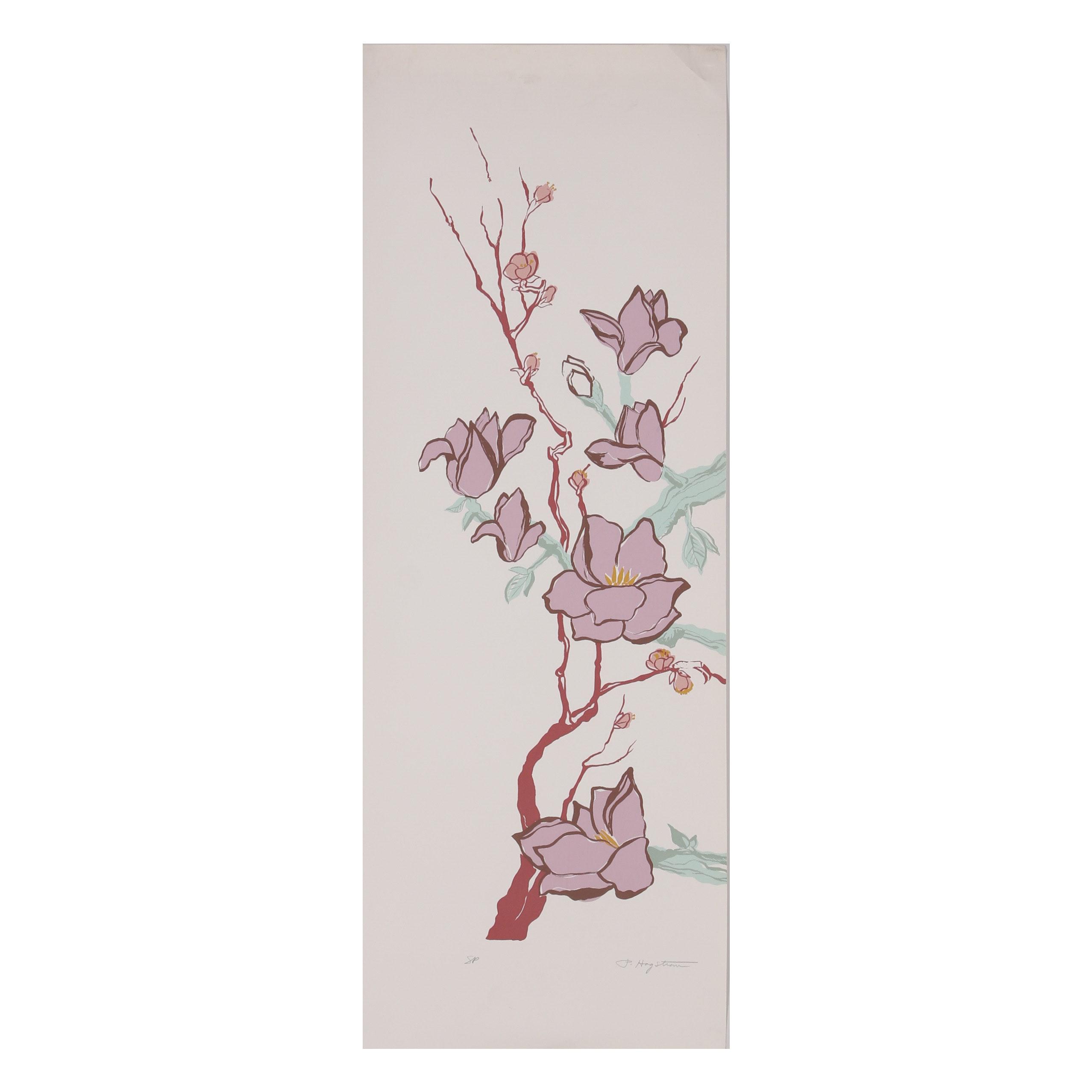 """Patricia Hagstrom Serigraph """"Magnolia Blossoms"""""""