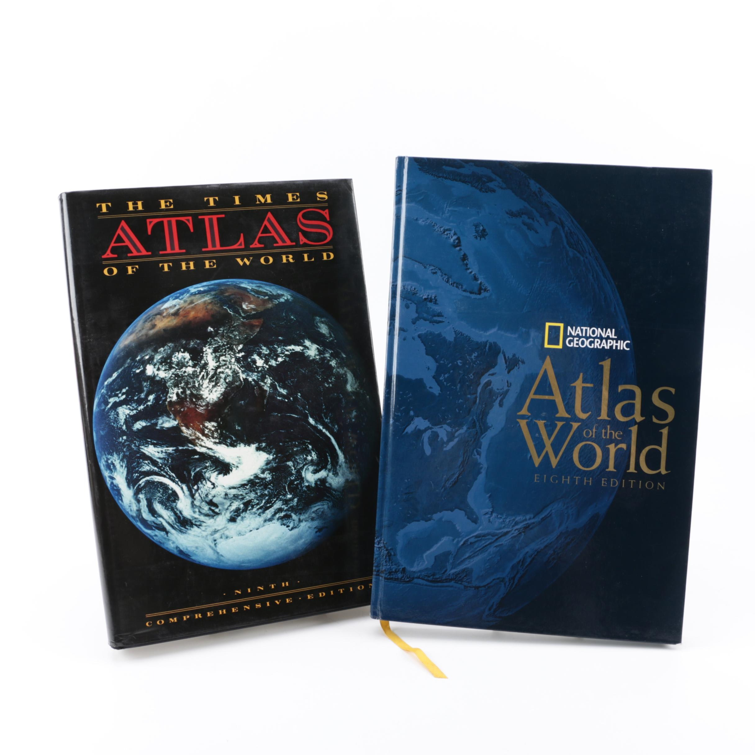 1990s and 2000s World Atlases including Times and National Geographic