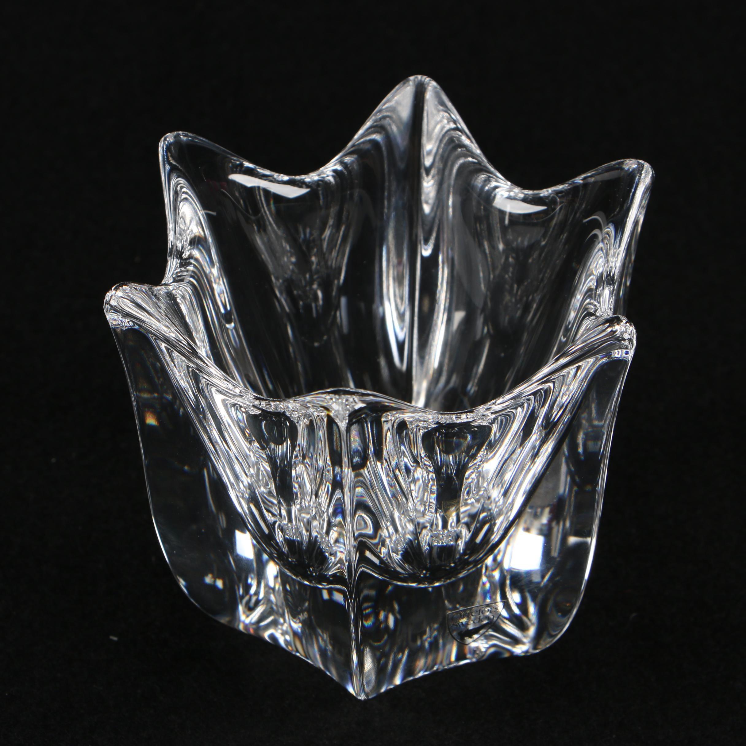 "Orrefors ""Belle"" Crystal Bowl Designed by Jan Johansson"