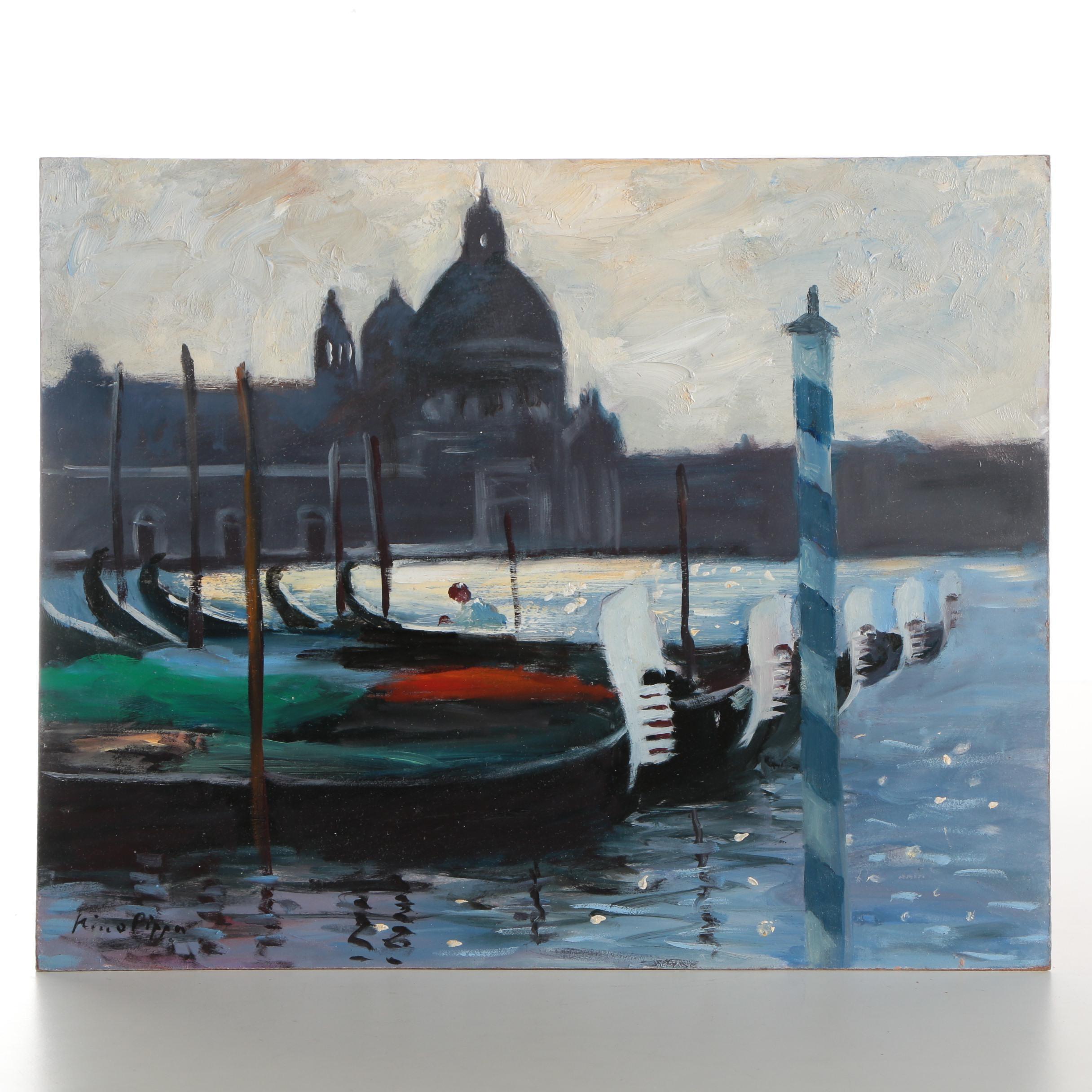 "Nino Pippa Oil Painting ""Venice - Grand Canal Twilight"""