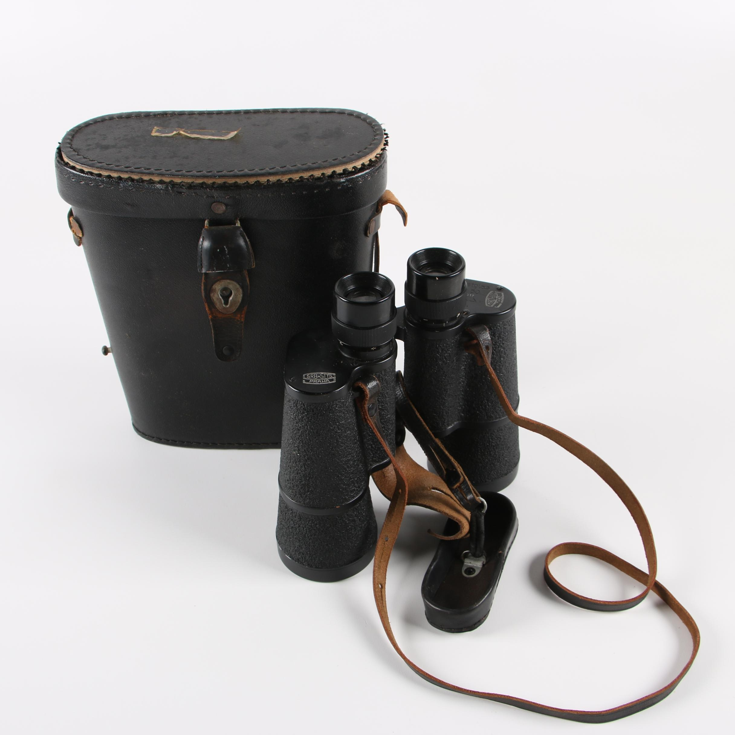 Czechoslovakian Srb a Štys Dienstglas BMK 7 x 50 World War II Era Binoculars