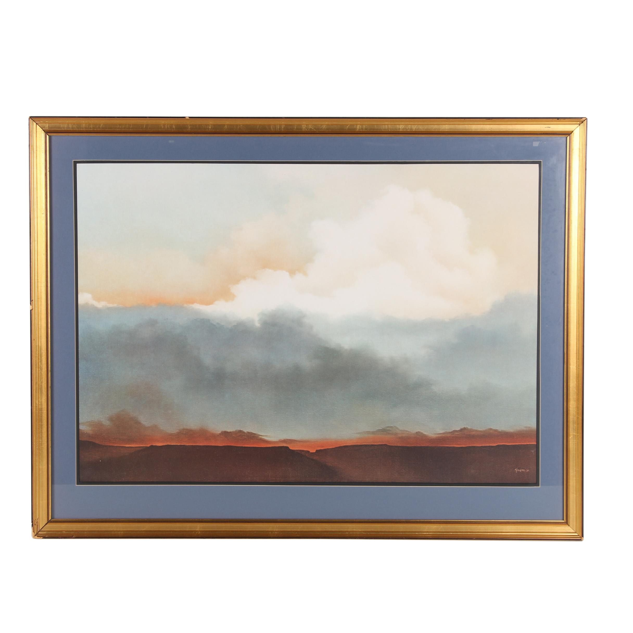 "Offset Lithograph after Taylor ""Landscape"""