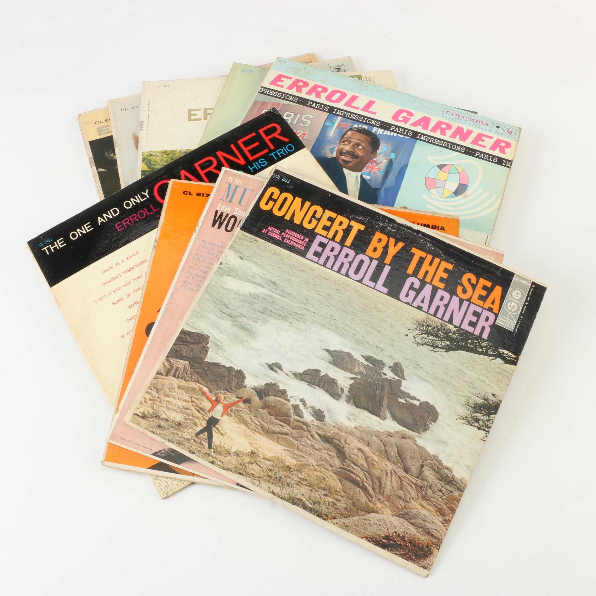 "1950s Erroll Garner Records including ""Concert by the Sea"""