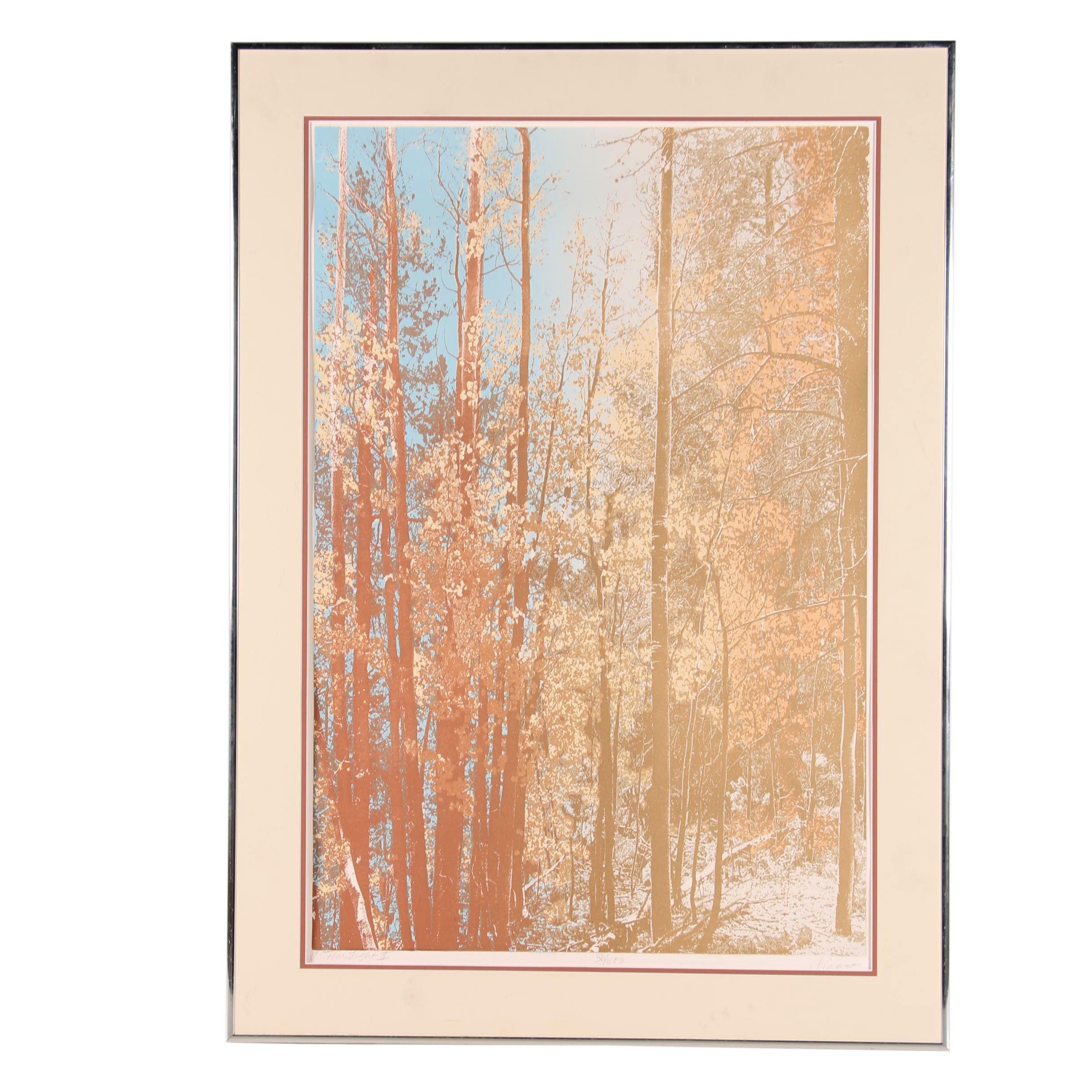 "P. Crane Serigraph ""October Light II"""