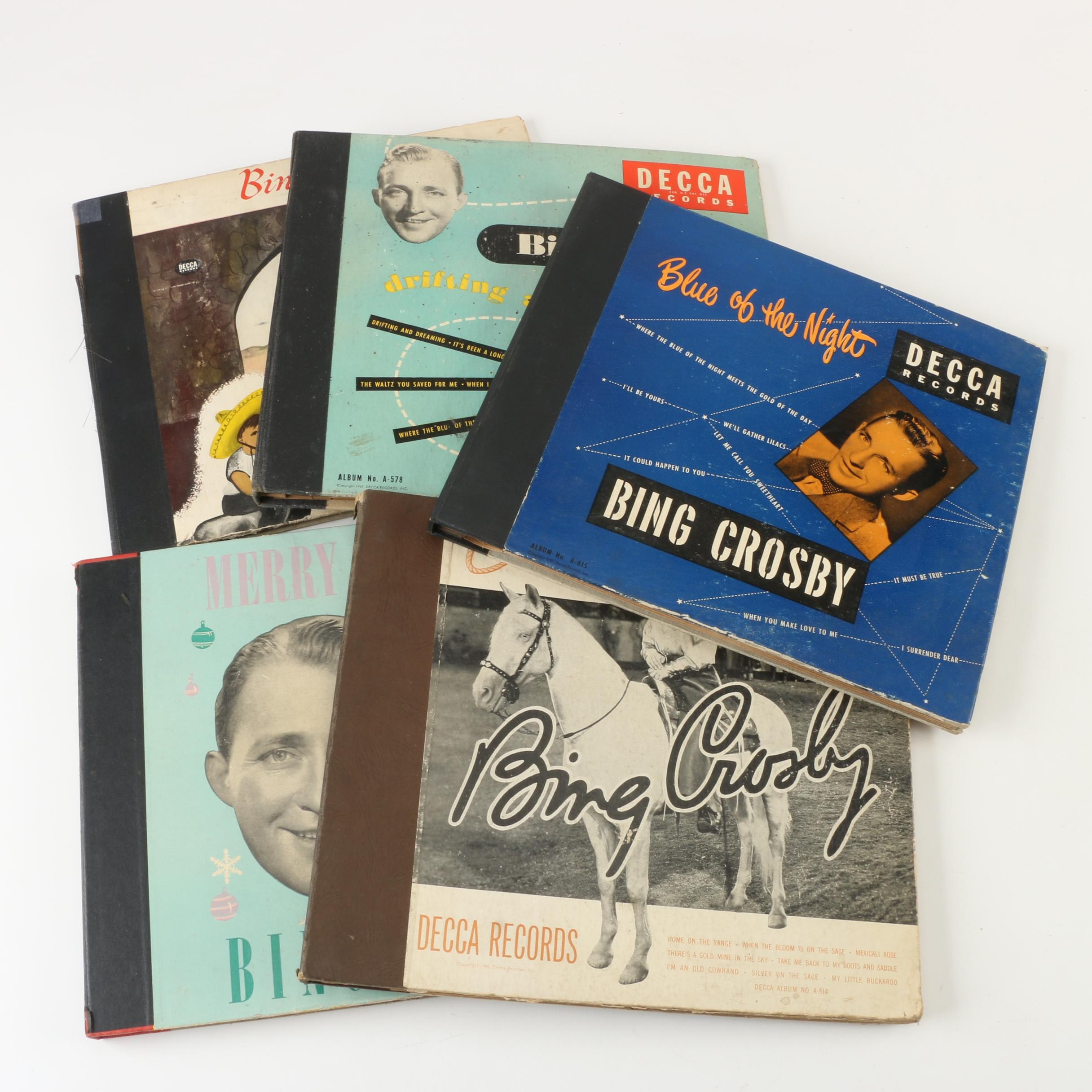 "Bing Crosby 78RPM Records including ""Blues of the Night"""