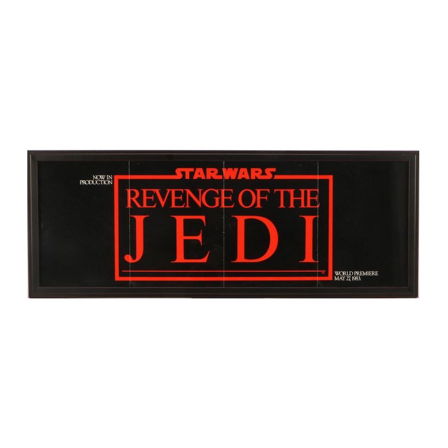 """Star Wars 1983 """"Revenge of the Jedi"""" Advertising Error Framed Movie Poster"""